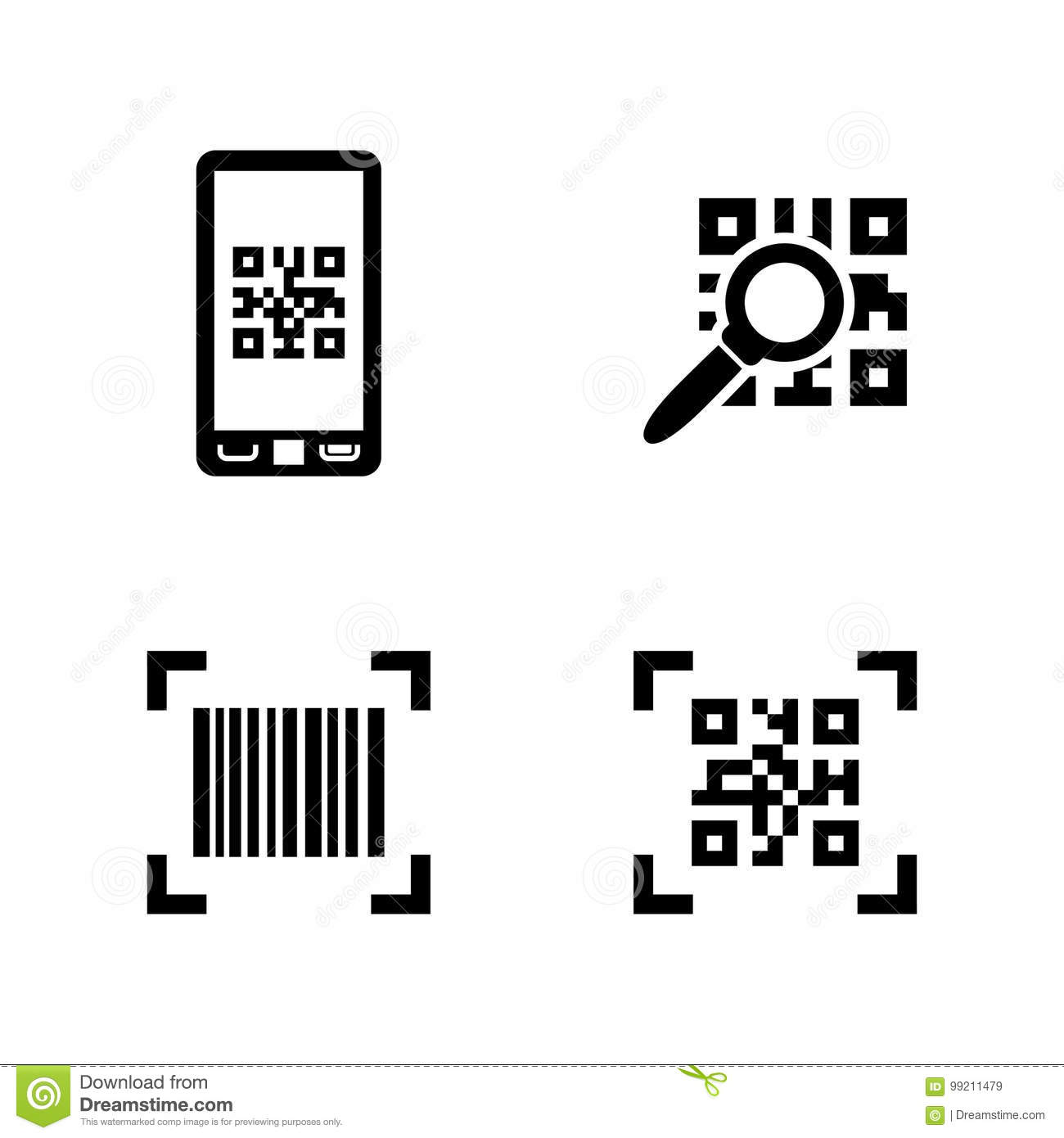 check code simple related vector icons stock vector illustration