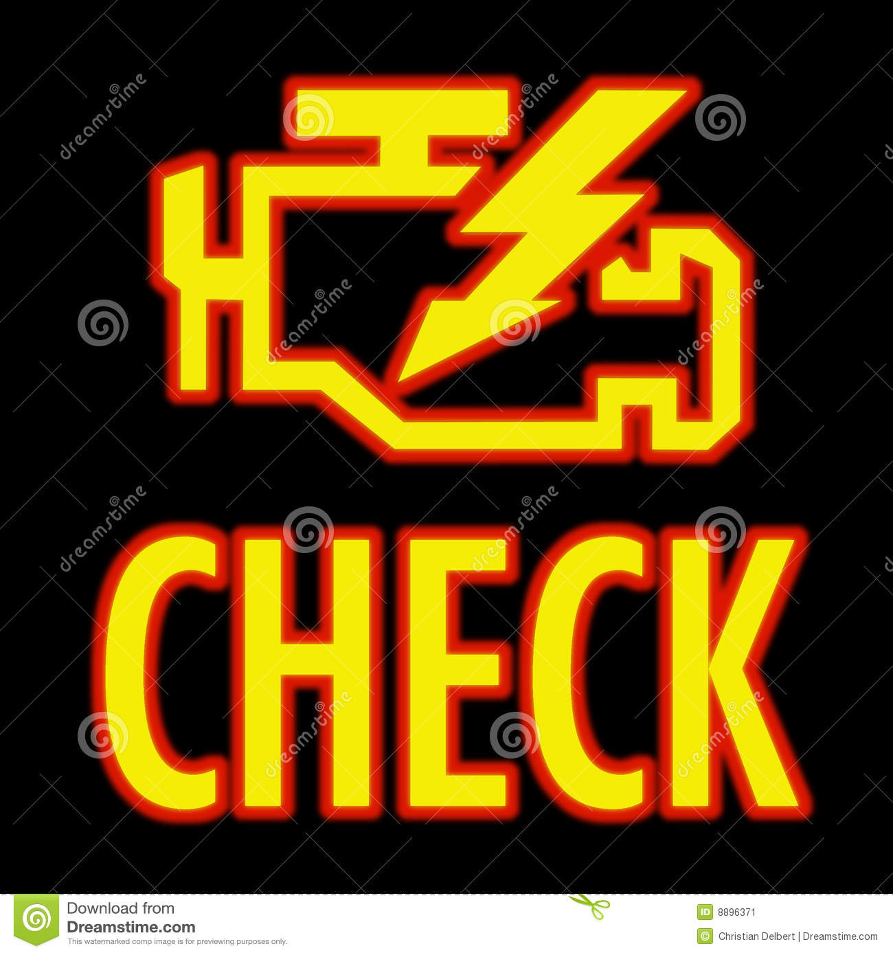 Check Engine Light Stock Illustration Image Of Warning