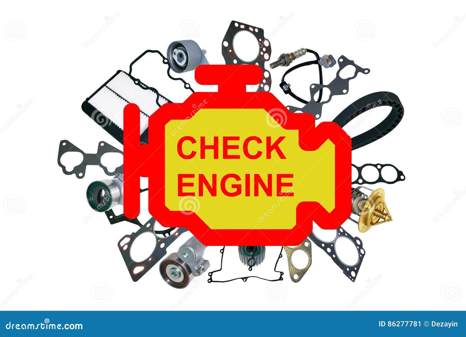 Check Engine Light Symbol Stock Image Image Of Engine 86277781