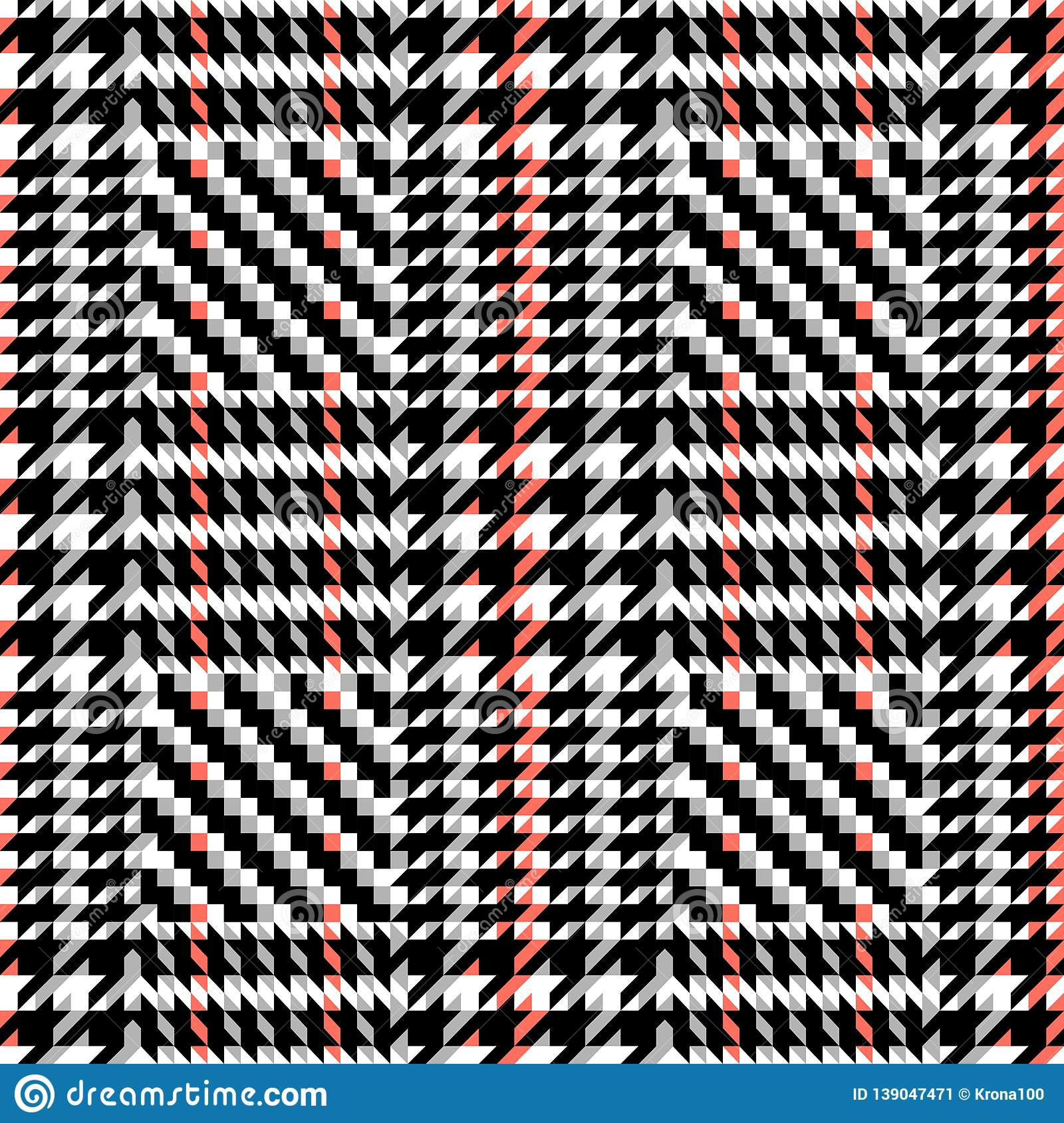 Check Fashion Seamless Pattern. Vector Repeat Background.