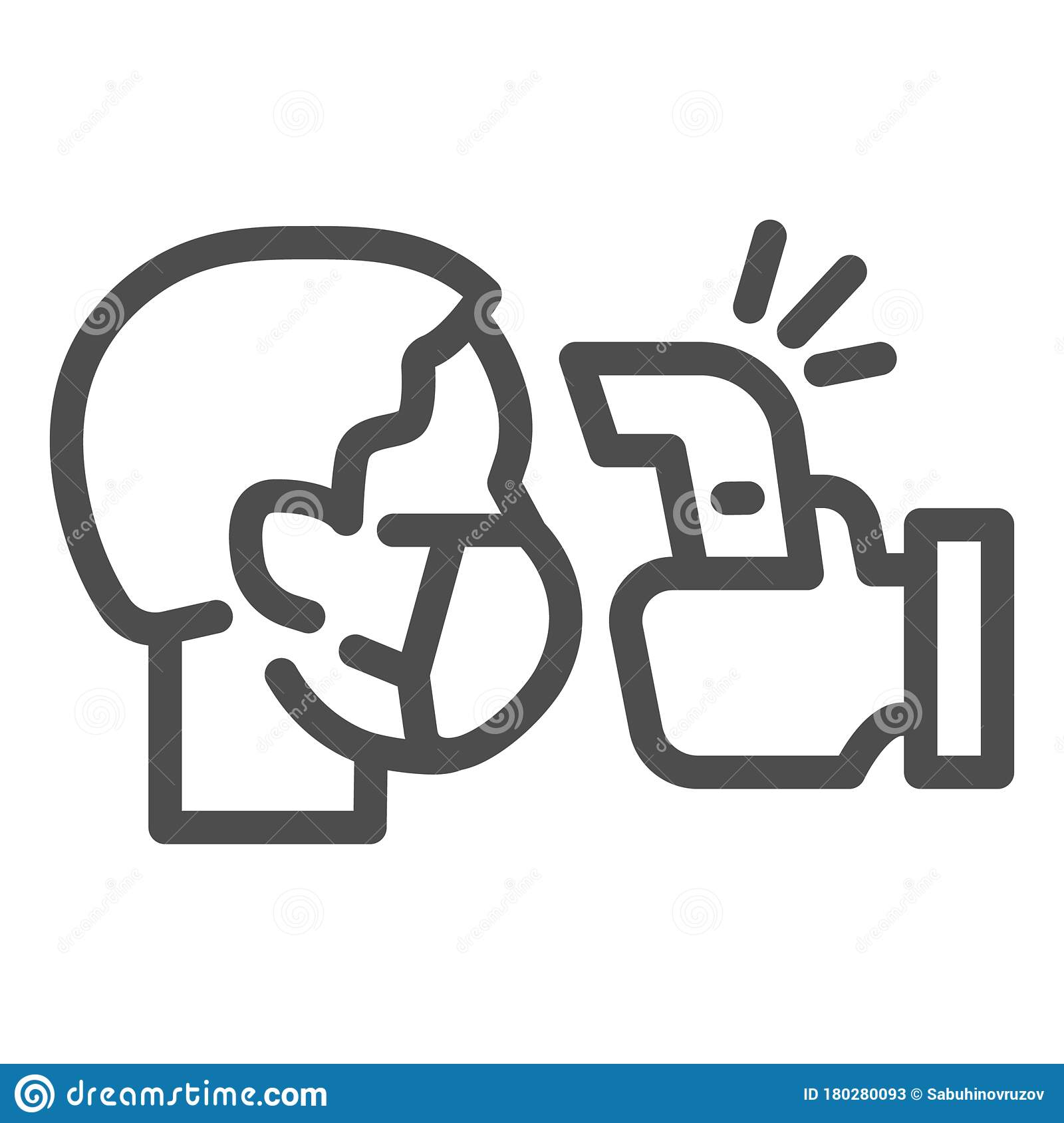 Check Human Body Temperature Line Icon Detection Virus Transmission Symbol Outline Style Pictogram On White Background Stock Vector Illustration Of Device Measure 180280093