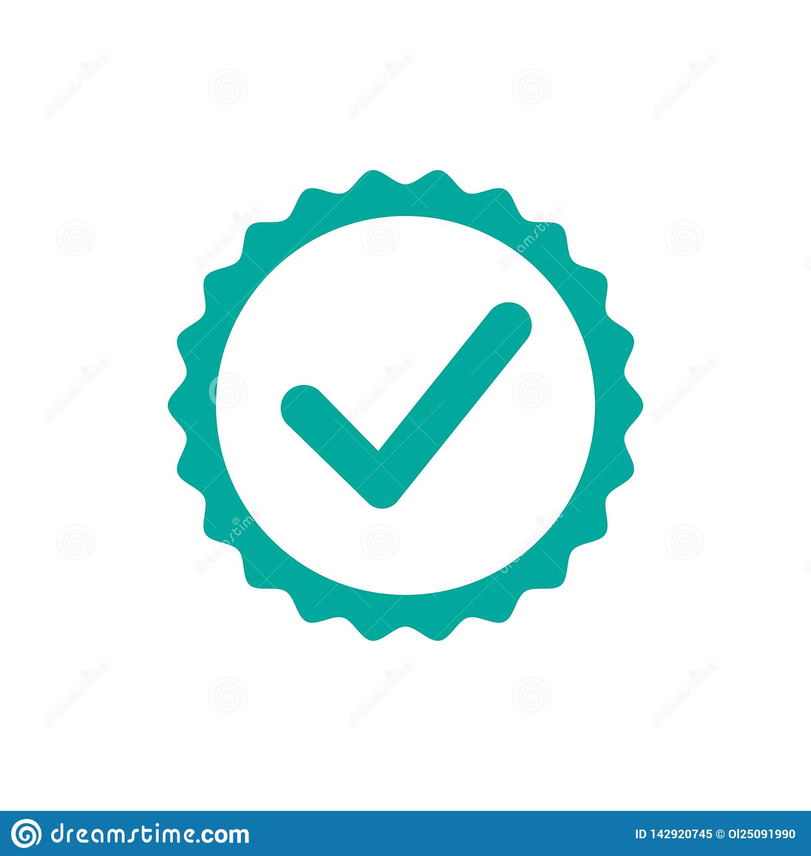 Check icon. One of set web icons - Vector