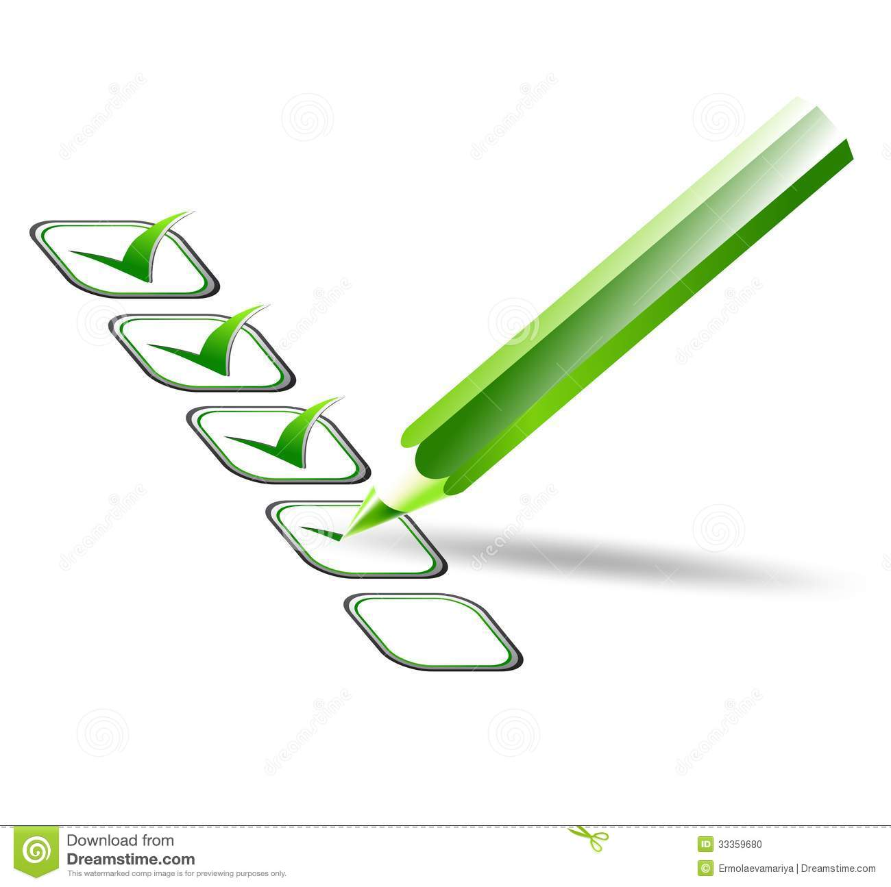 Check List Vector Illustration Stock Photo Image 33359680