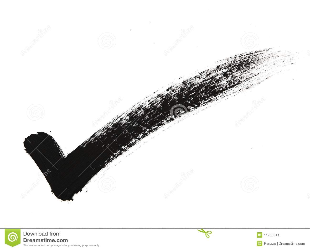 Check Mark In Bold Brush Stroke Stock Image - Image: 11700841