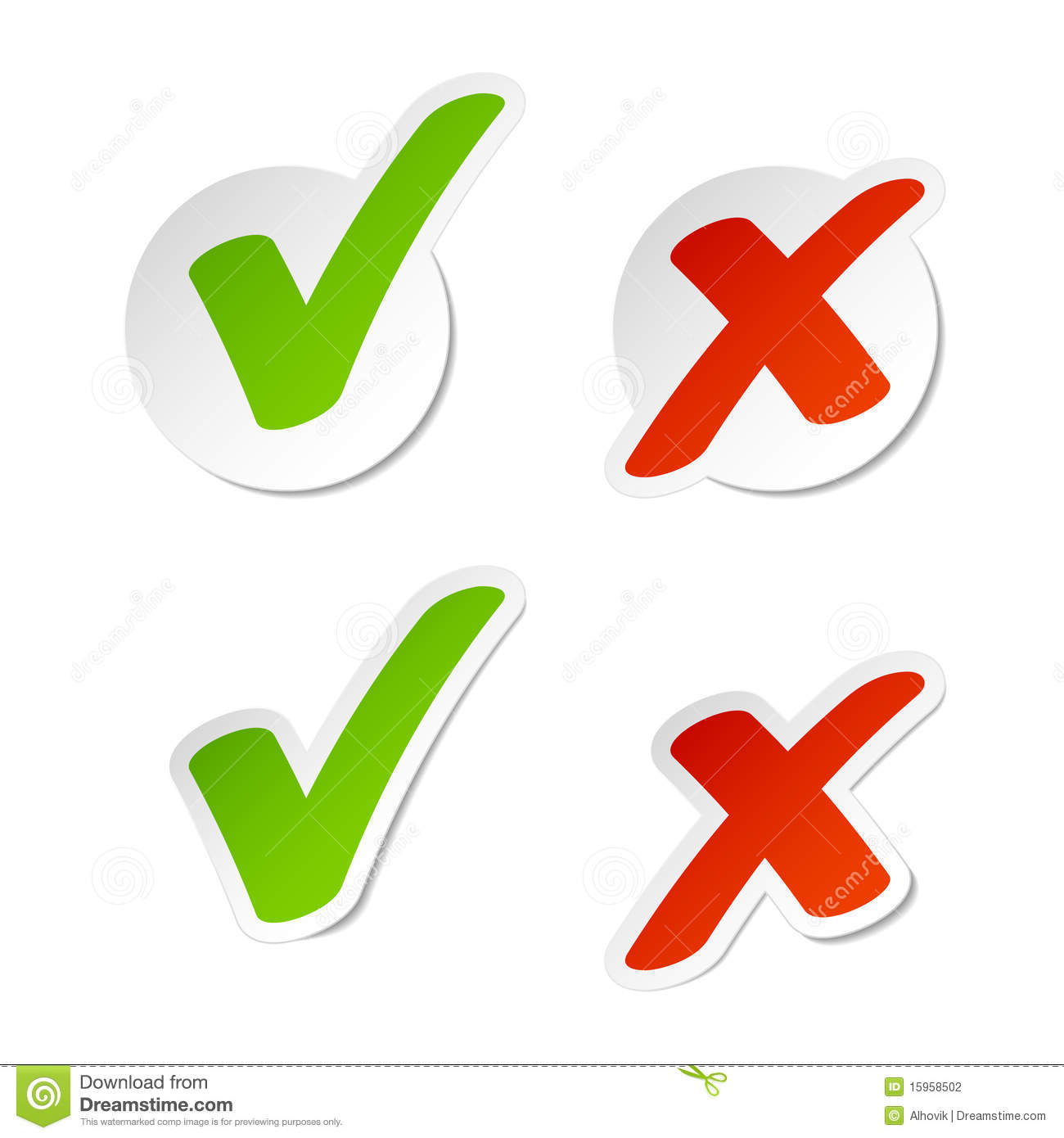 Check Mark Stickers Stock Photography Image 15958502