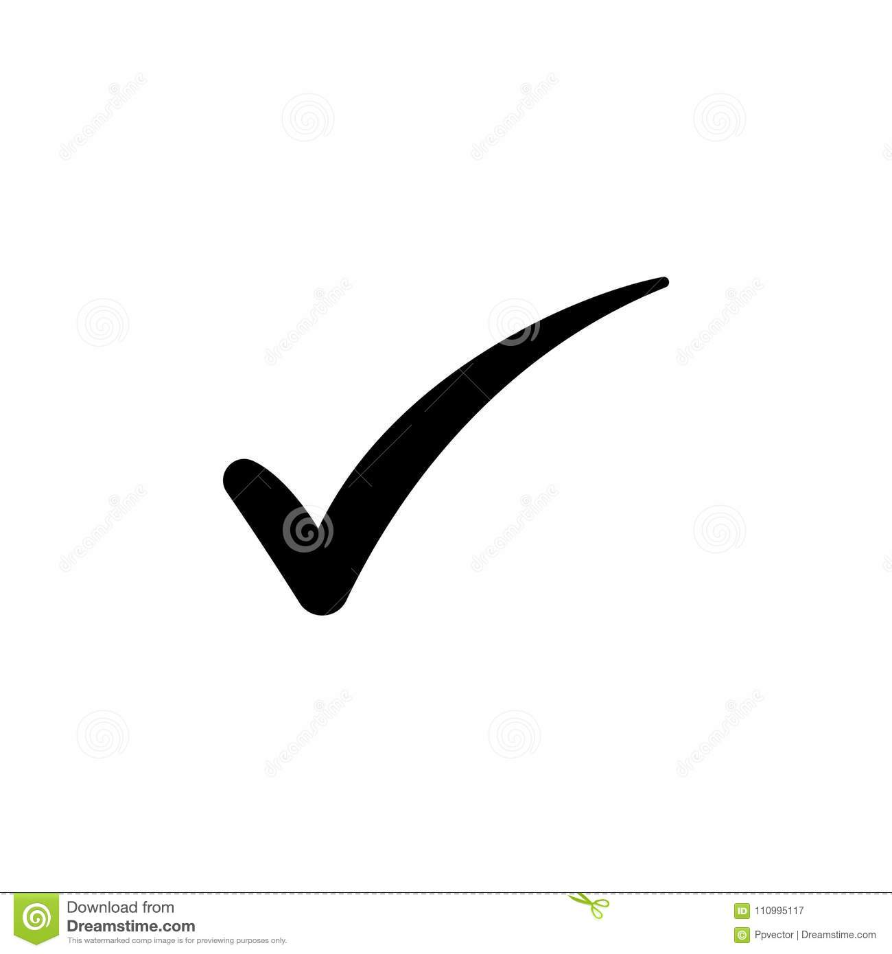 Check Mark Symbol Vector Stock Vector Illustration Of Input