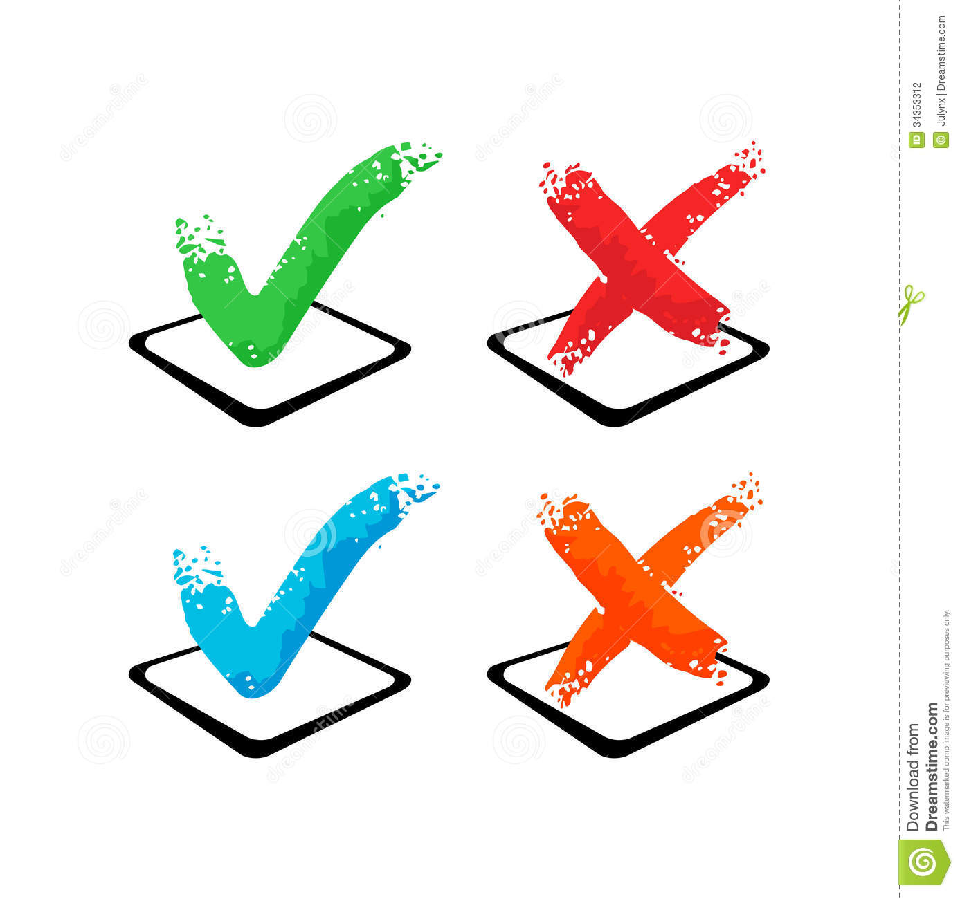 Check mark yes and no stock vector illustration of cross 34353312 check mark yes and no buycottarizona Gallery
