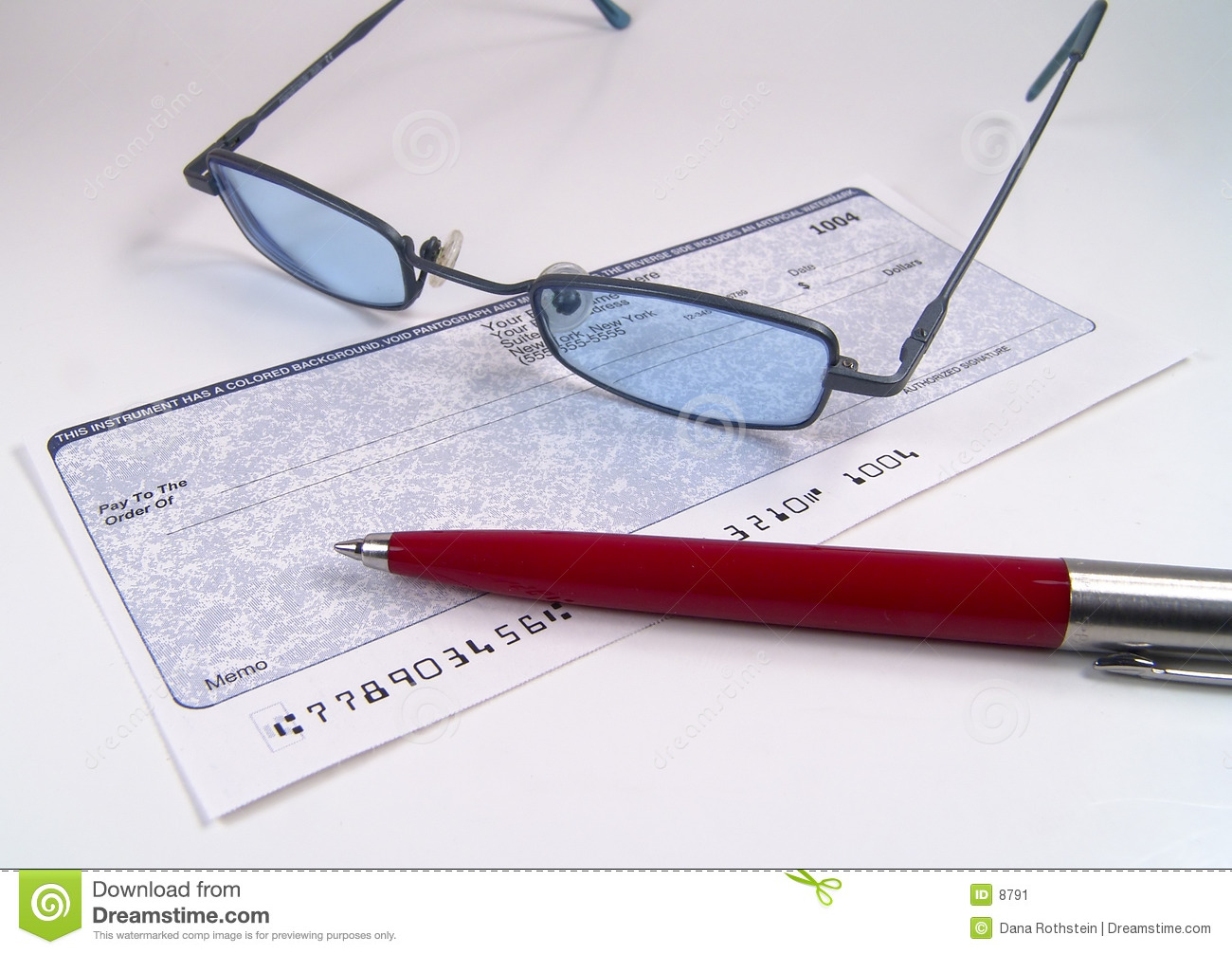 Check, Pen and Glasses
