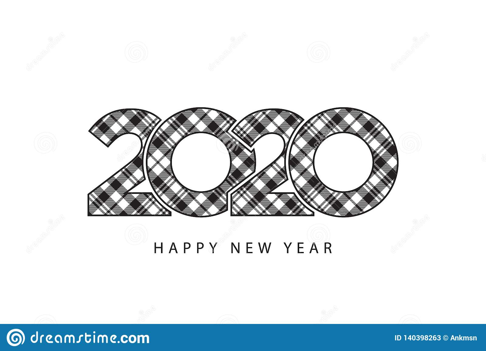 Check Plaid 2020 Happy New Year Template Gift Card For ...