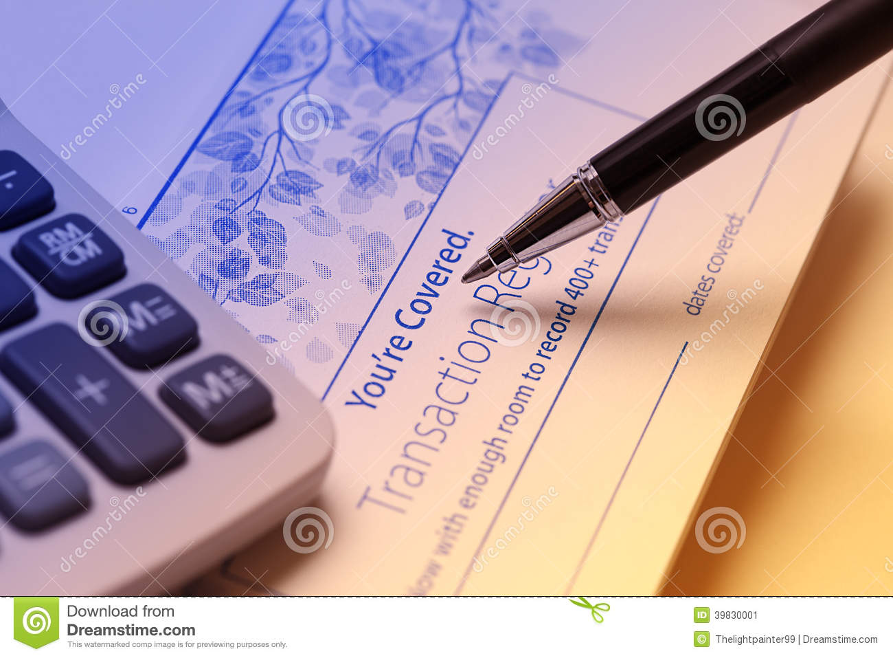 check register stock image image of blue account financing 39830001