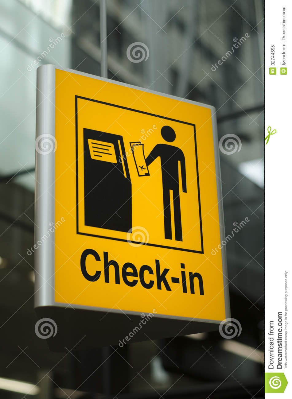 Check-in Sign At Airport Royalty Free Stock Photo - Image: 32744695