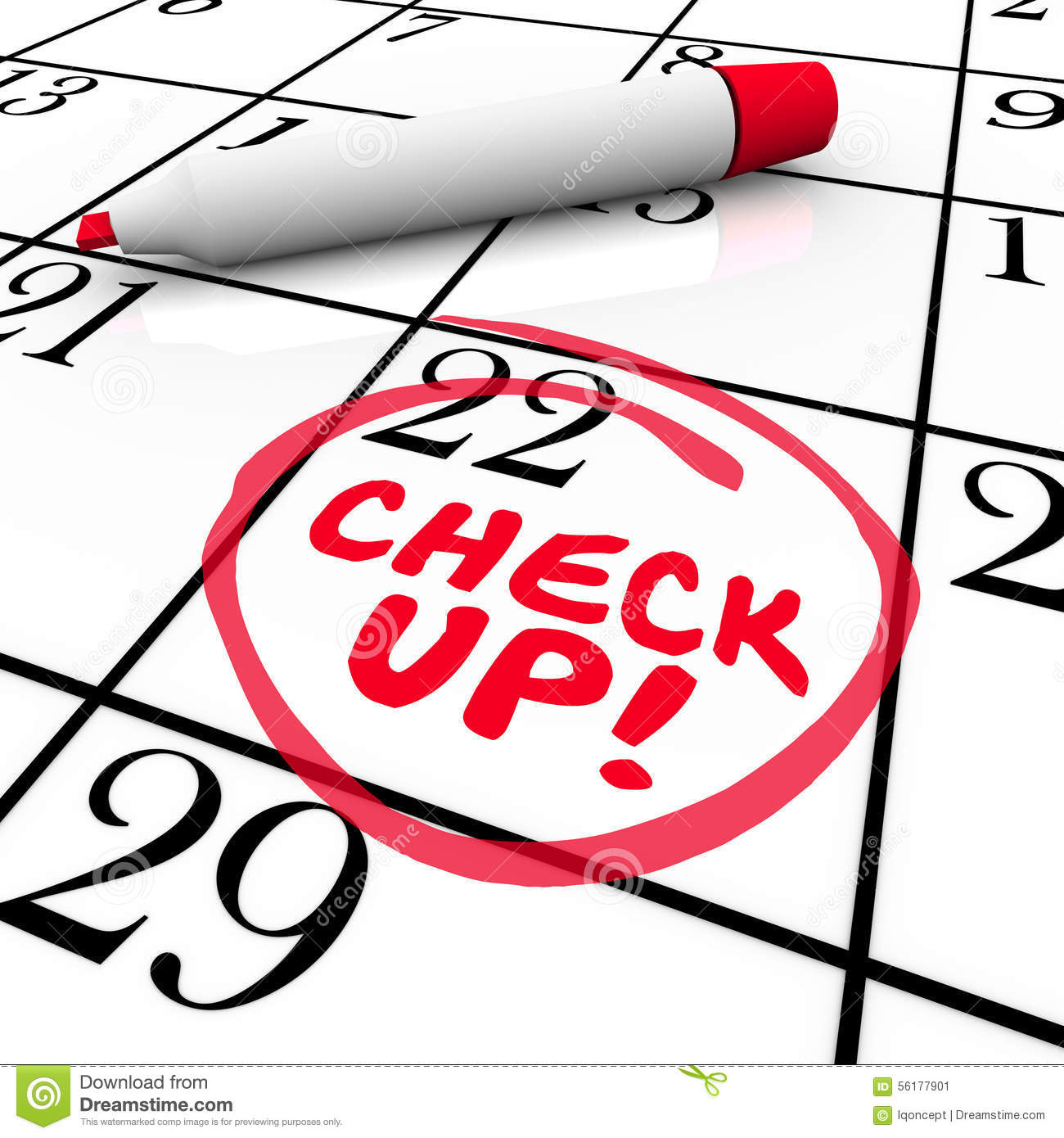Appointment Reminder On Calendar Schedule Royalty Free Stock ...