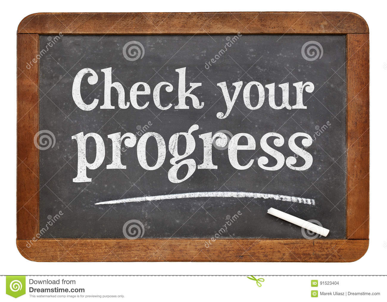 Check Your Progress Blackboard Sign Stock Photo - Image of