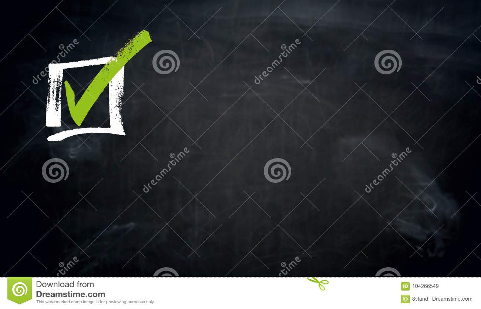 Checkbox chalkboard concept background