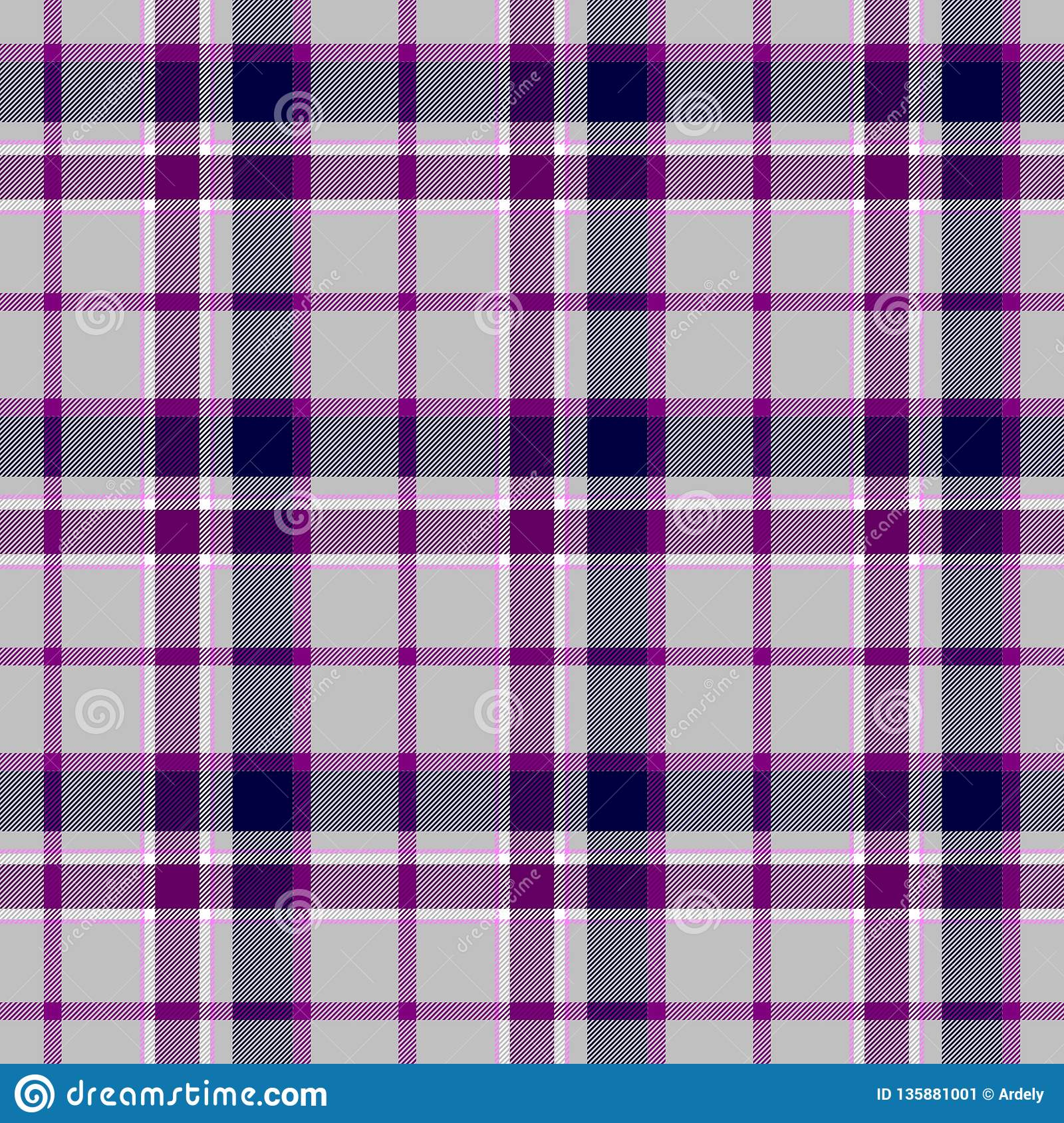 ec8d52a2c8 Checked diamond tartan plaid scotch kilt fabric seamless pattern texture  background - color gray, grey, purple, violet and white