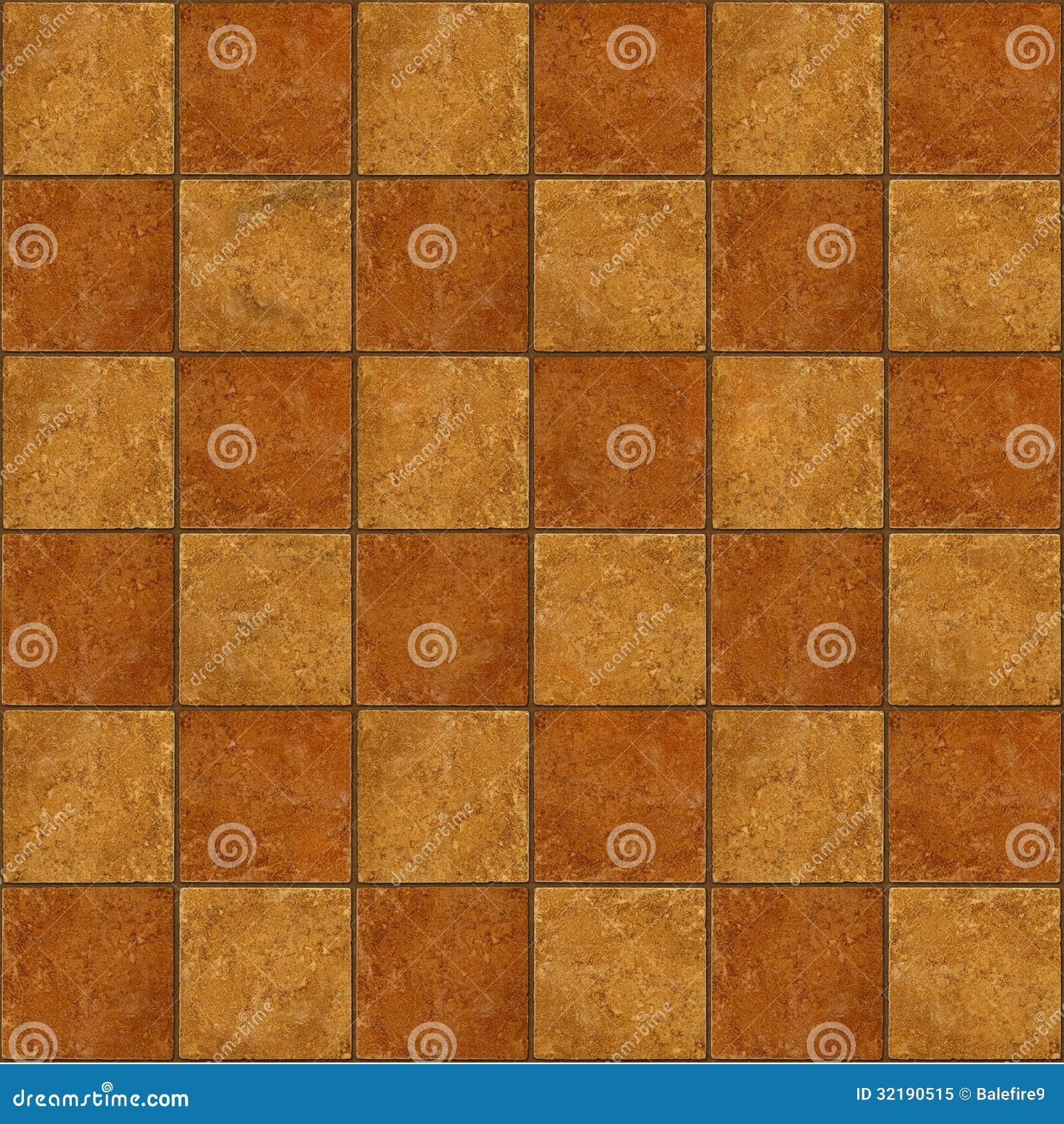 Checkerboard Ceramic Brown Stone Tiles Seamlessly Tileabl