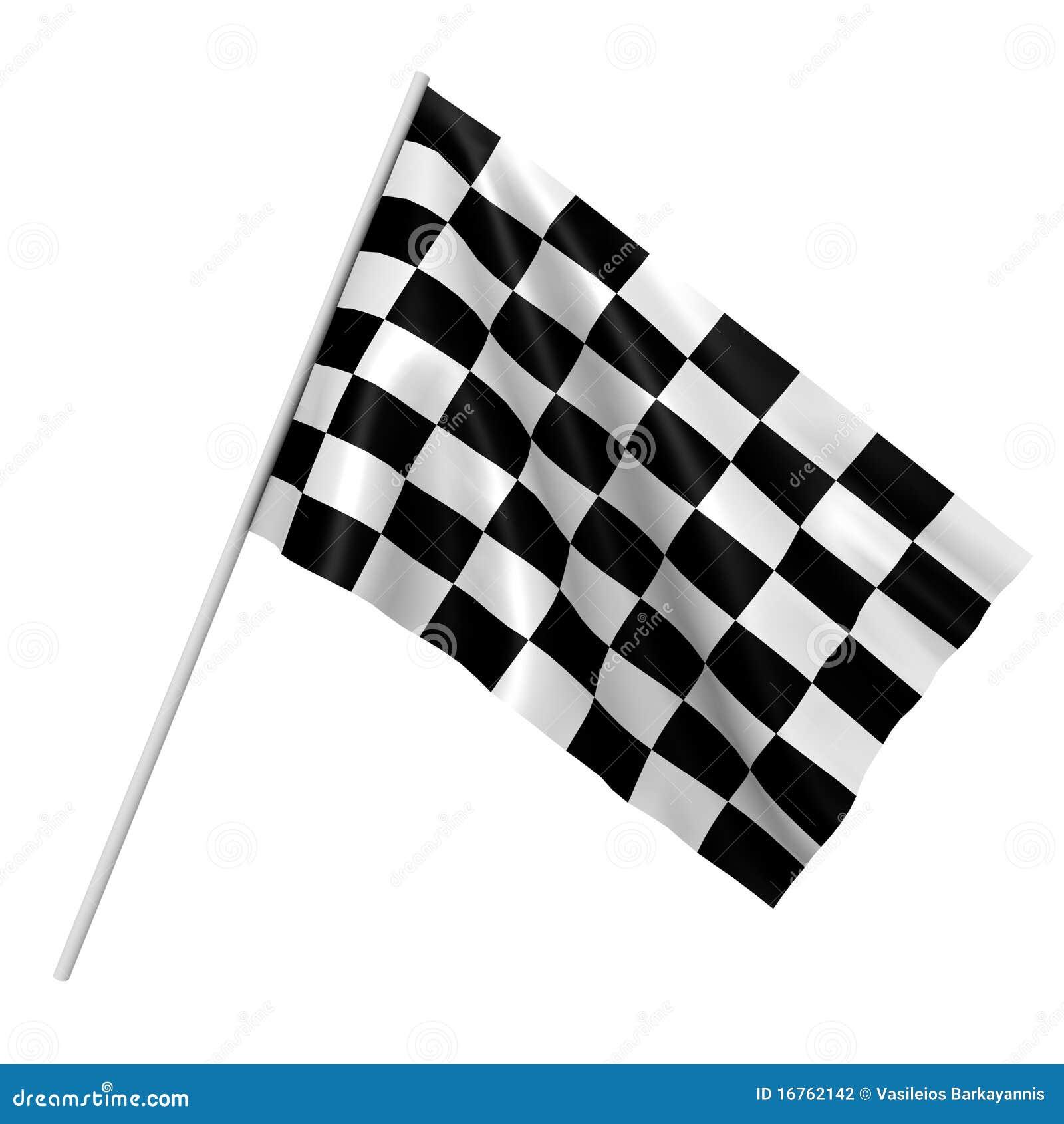 Checkered гонка изображения флага 3d