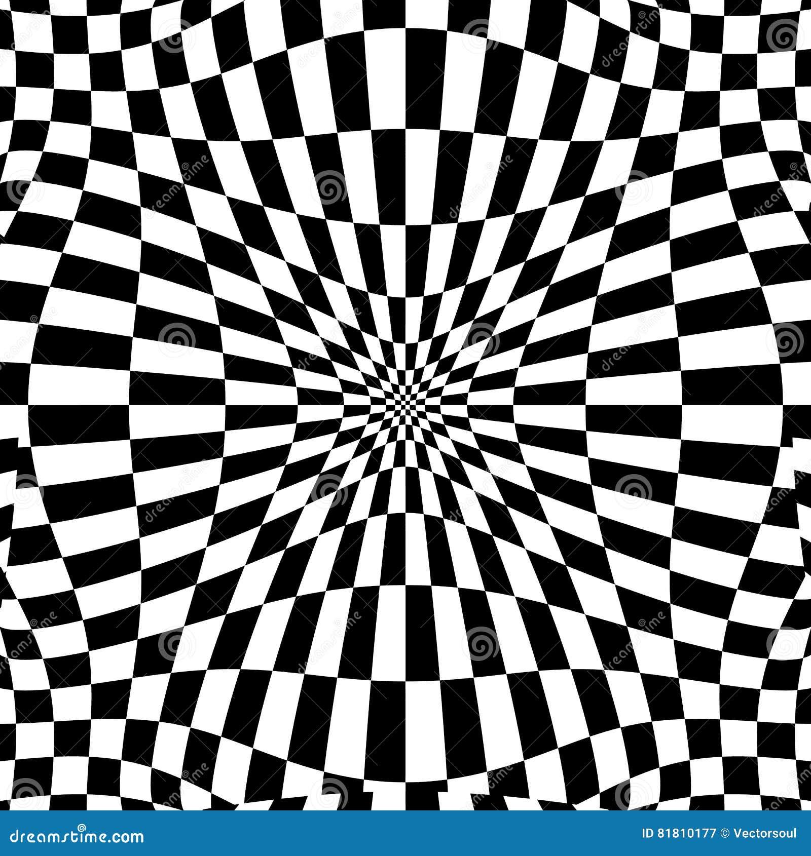 Checkered картина с эффектом искажения Деформированный, солдат нерегулярной армии ch