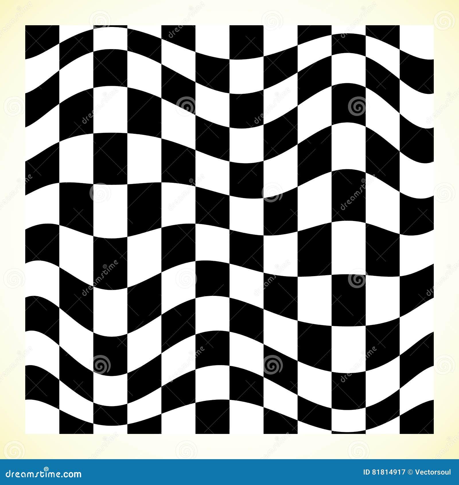 Checkered шахматная доска картины, доска контролера с искажением