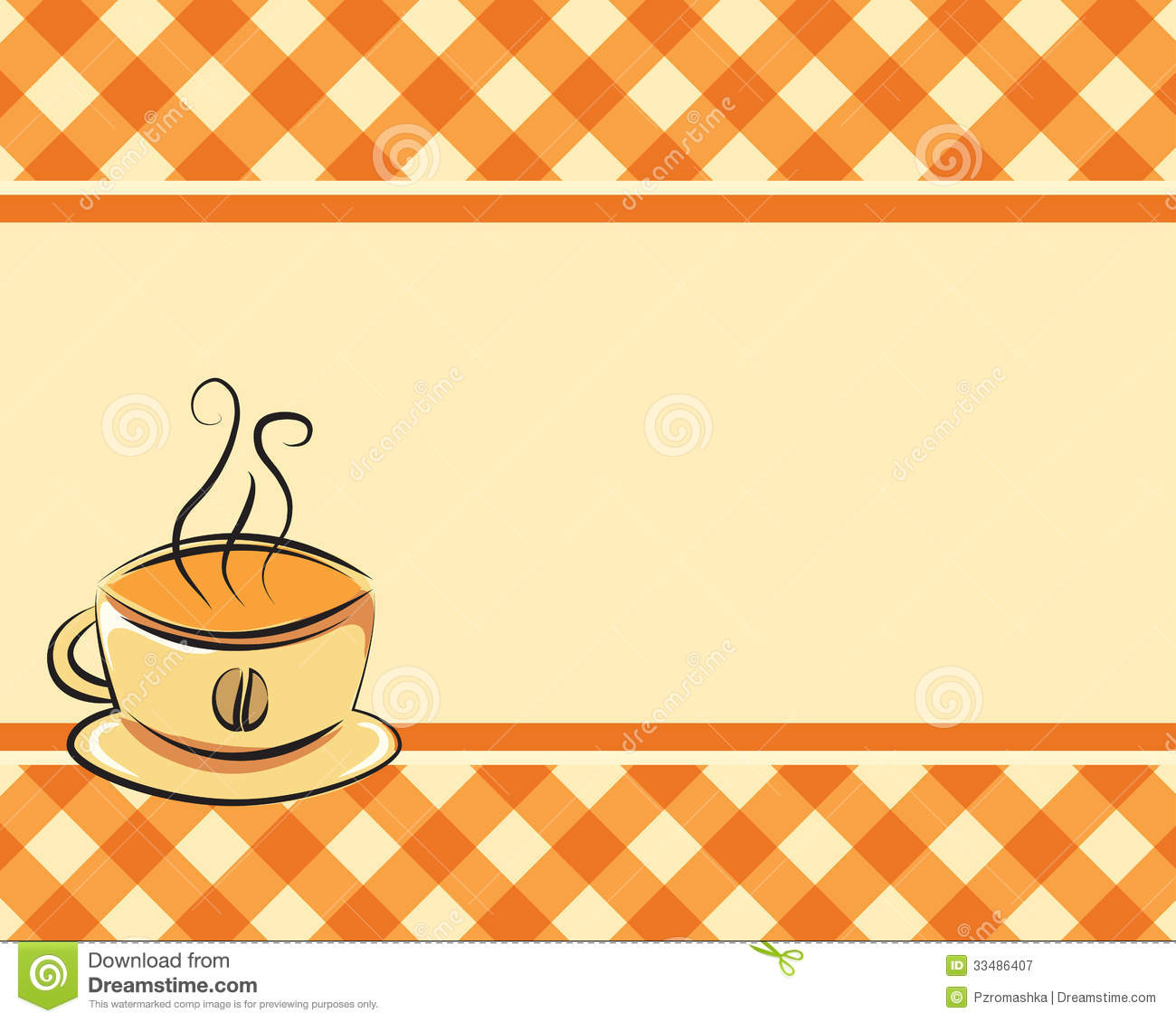 Checkered Coffee Vector Background Royalty Free Stock
