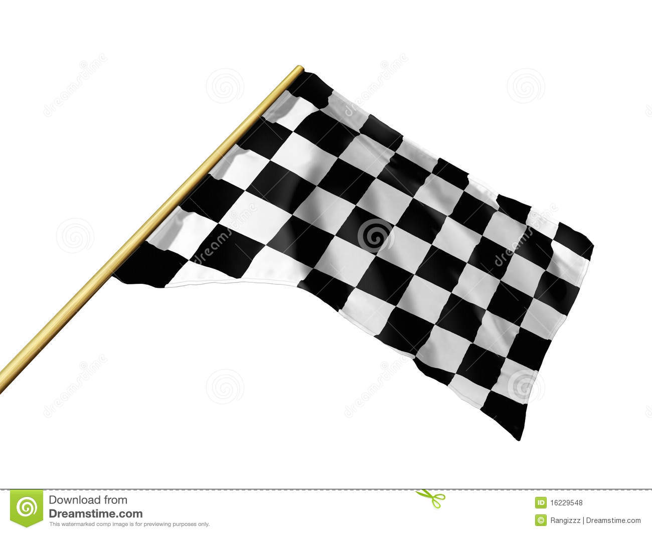 Checkered Flag Royalty Free Stock Photos - Image: 16229548