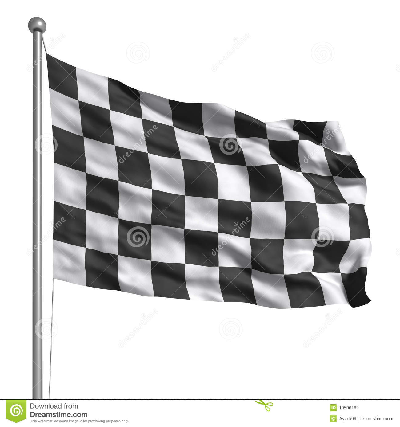 bce6f1b62e2 Checkered flag. Rendered with fabric texture (visible at 100%). Clipping  path included.