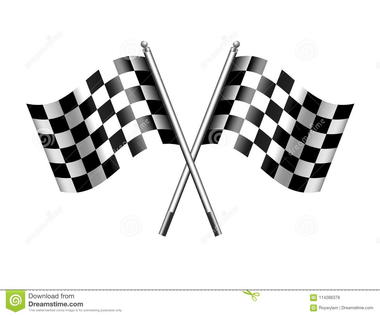 Checkered Flag Sports Chequered Flags Motor Racing Stock