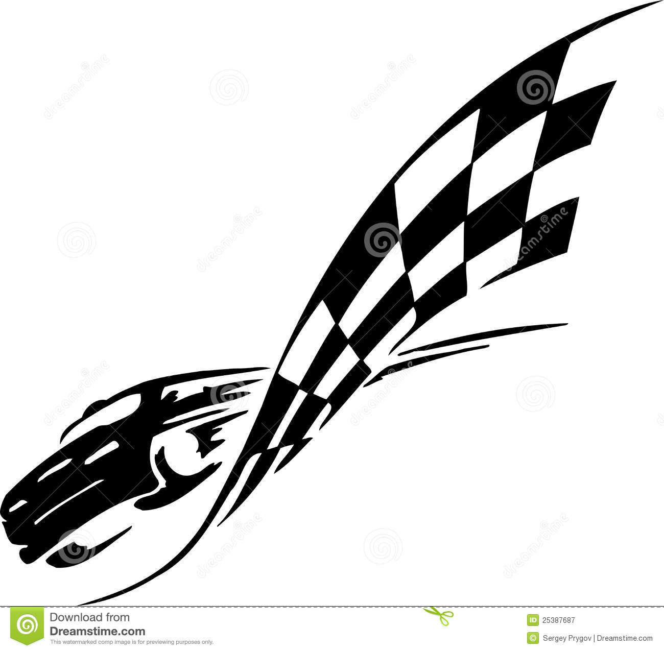 Checkered Flag Symbol Racing Stock Vector Illustration Of Rally Speed 25387687