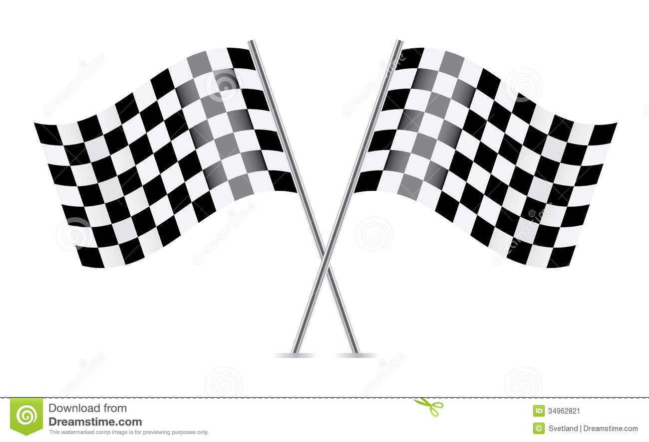 Checkered Flags Racing Flags Stock Vector Image 34962821