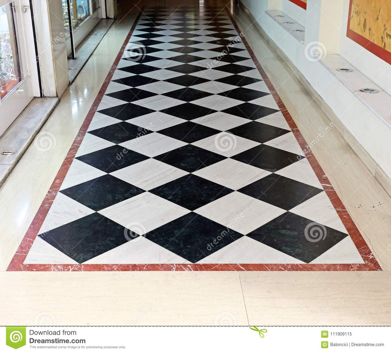 Checkered Floor Stock Image Image Of White Checkered 111909115