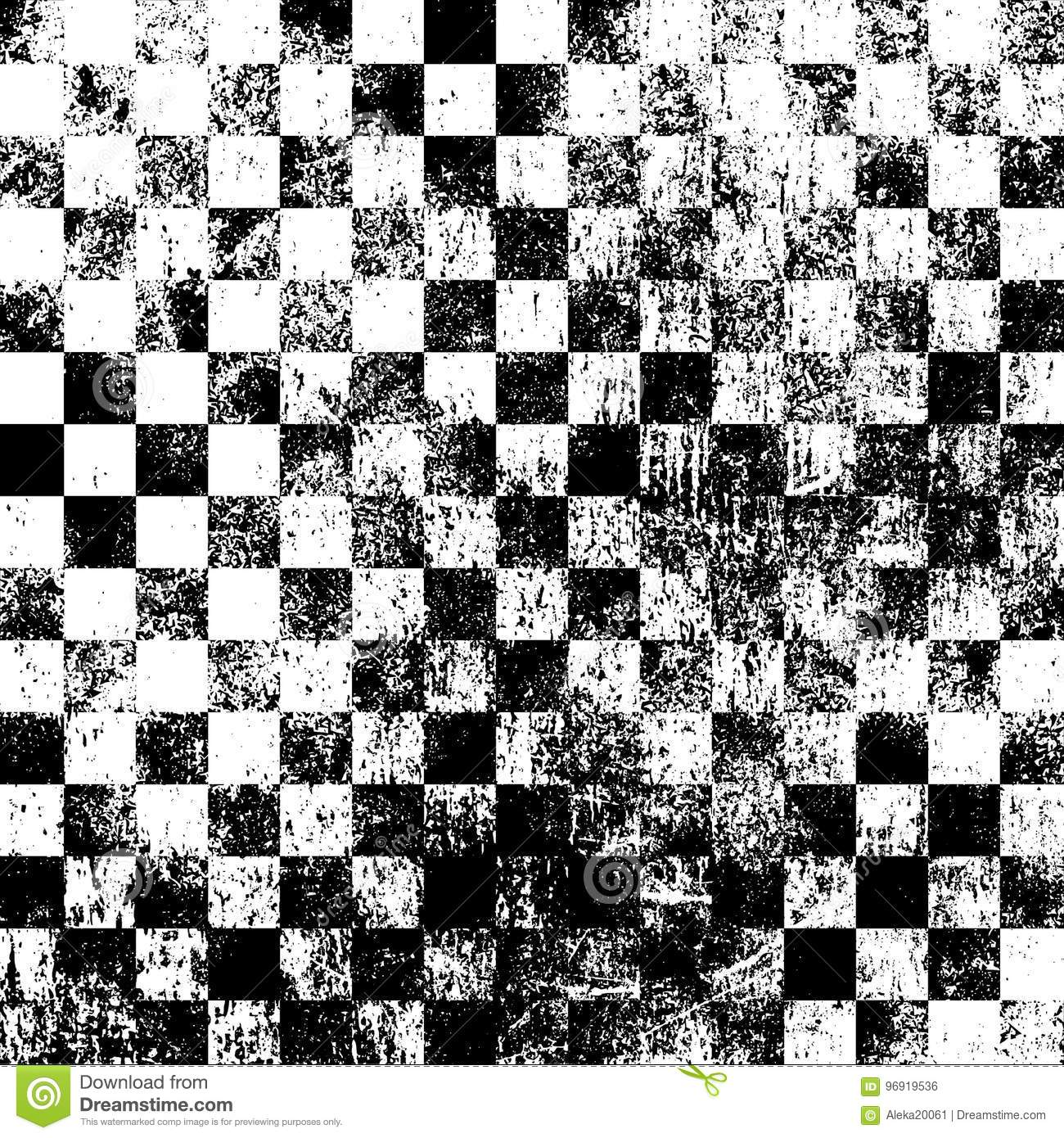 Checkered Grunge Background Template Old Checkered Black White