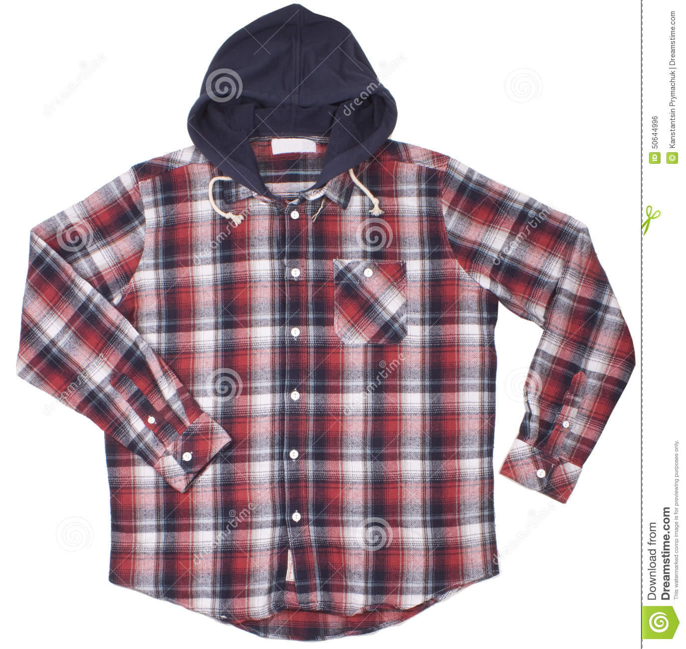 Smeiling Mens Checked Plaid Long Sleeve Button Down Shirts Hooded Shirt
