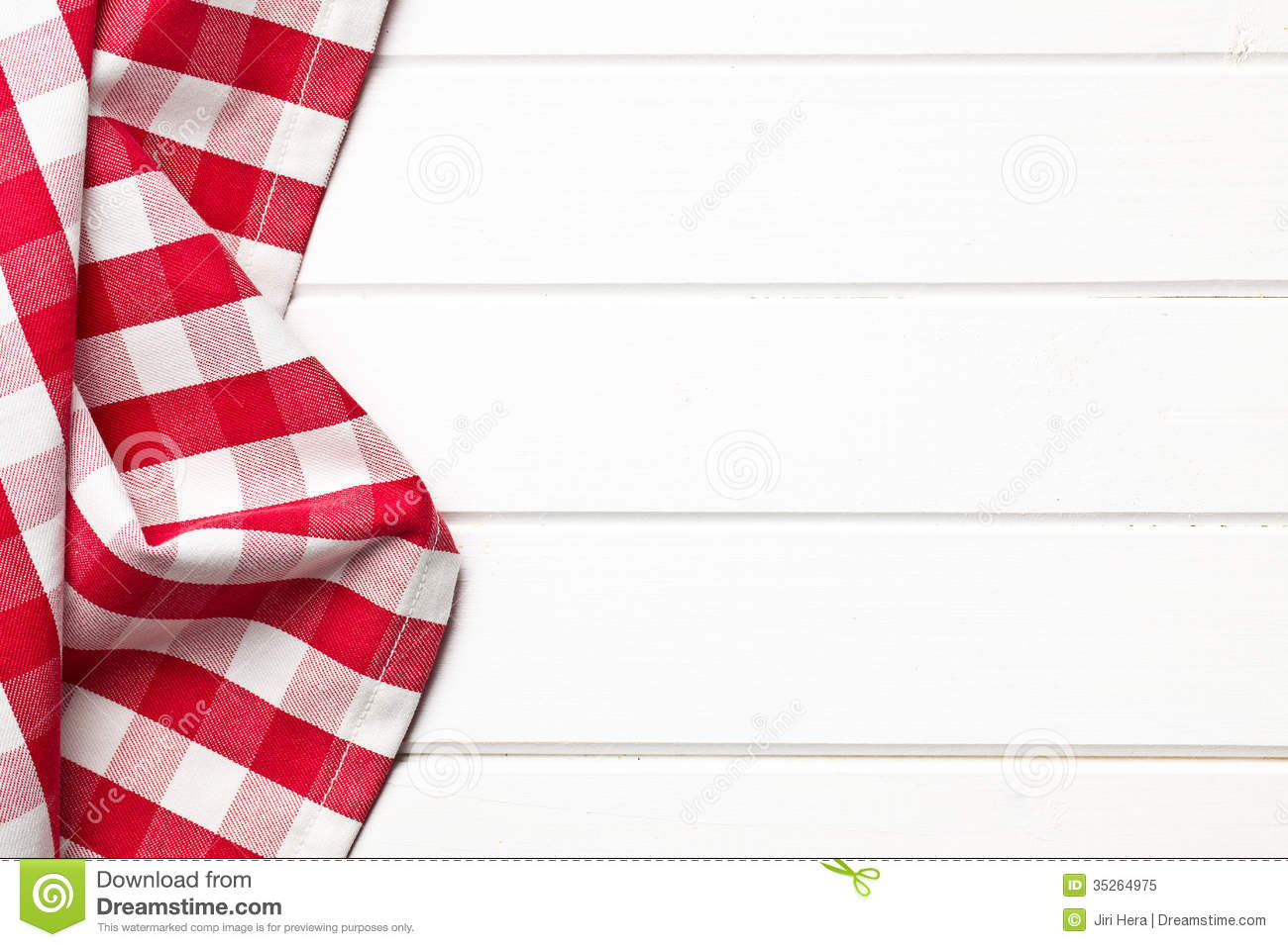 Checkered Napkin Stock Image Image Of Pattern White