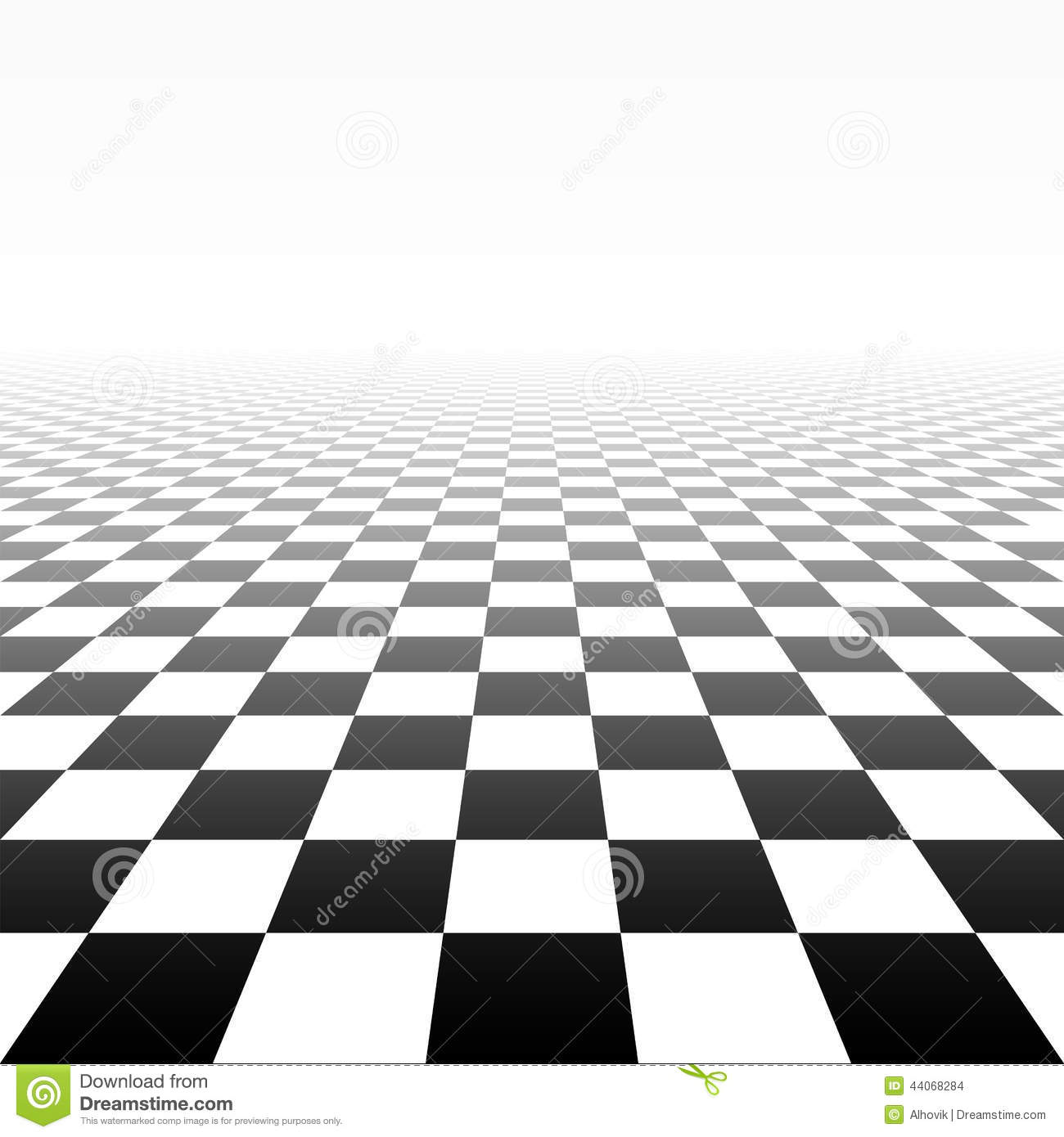 Checkered Perspective Background Stock Vector Image