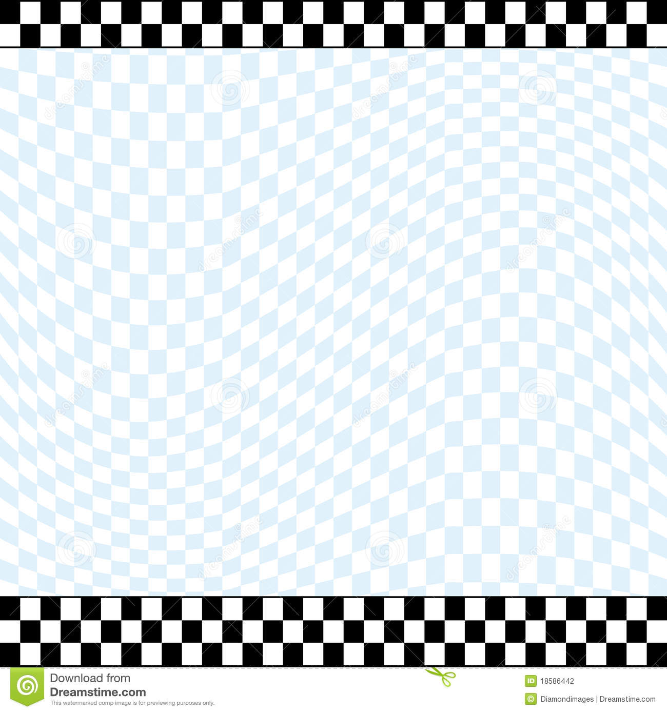 Racing theme checkered background with 2 row checkered top line and 3 ...