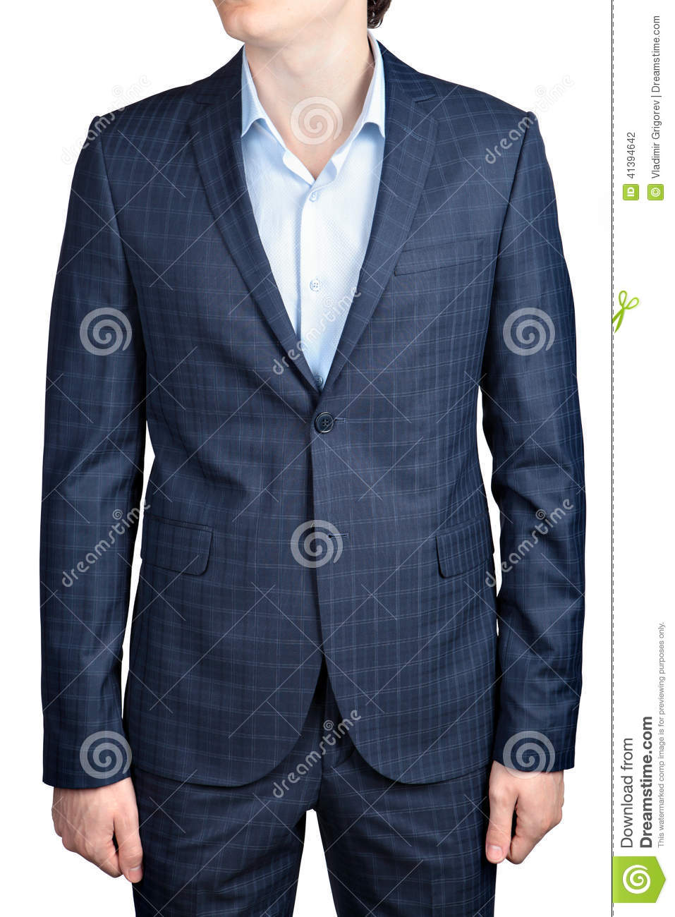 Checkered Suit For Men Stock Photo - Image: 41394642
