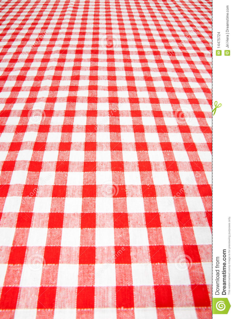 Checkered Tablecloth Stock Images Image 14475724