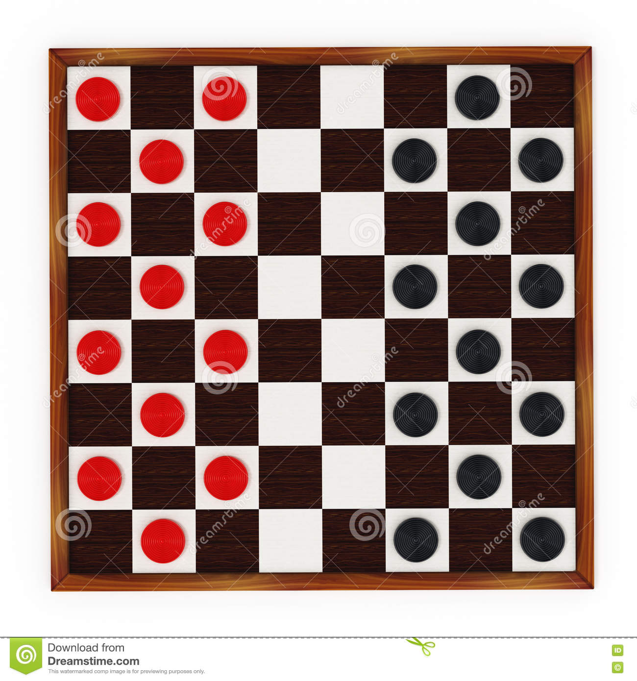 This is a photo of Versatile Printable Checkers Board
