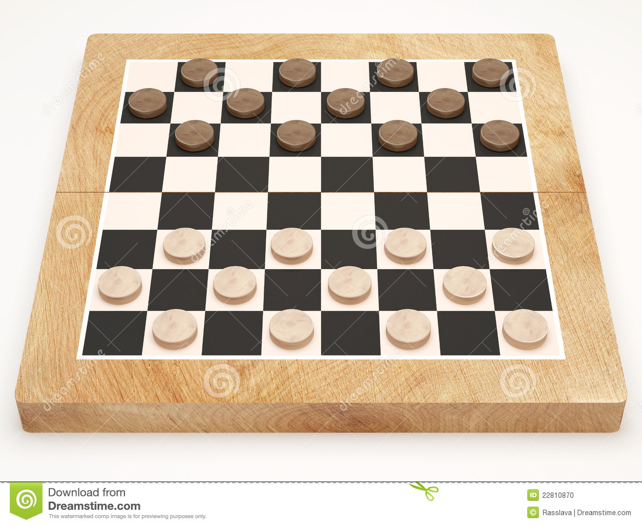 Wooden checker board wooden checkerboard in - Checkers Game On White Background Stock Photo Image