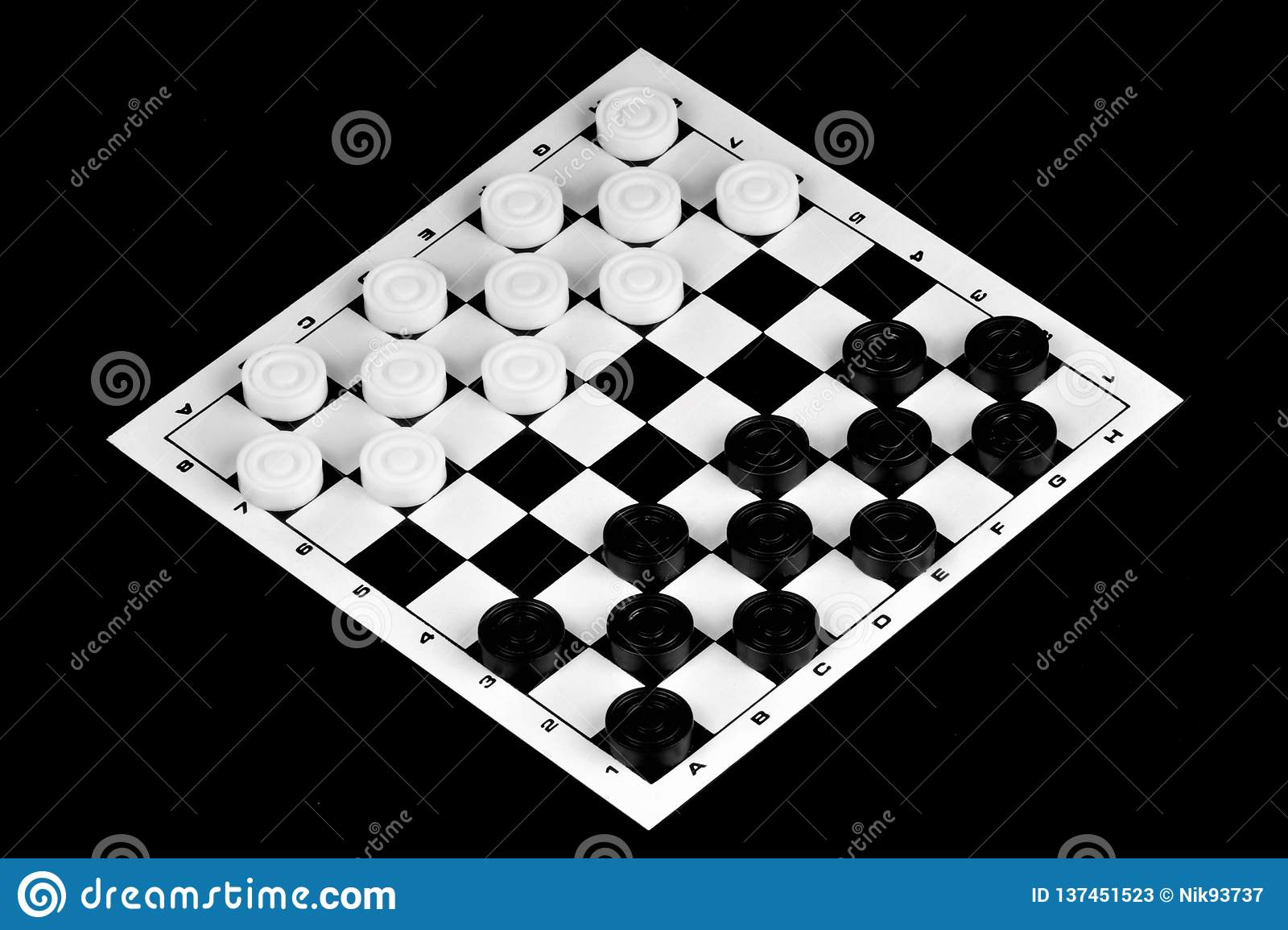Checkers is a popular ancient Board logic antagonistic game with special black and white pieces, on a cell Board for two