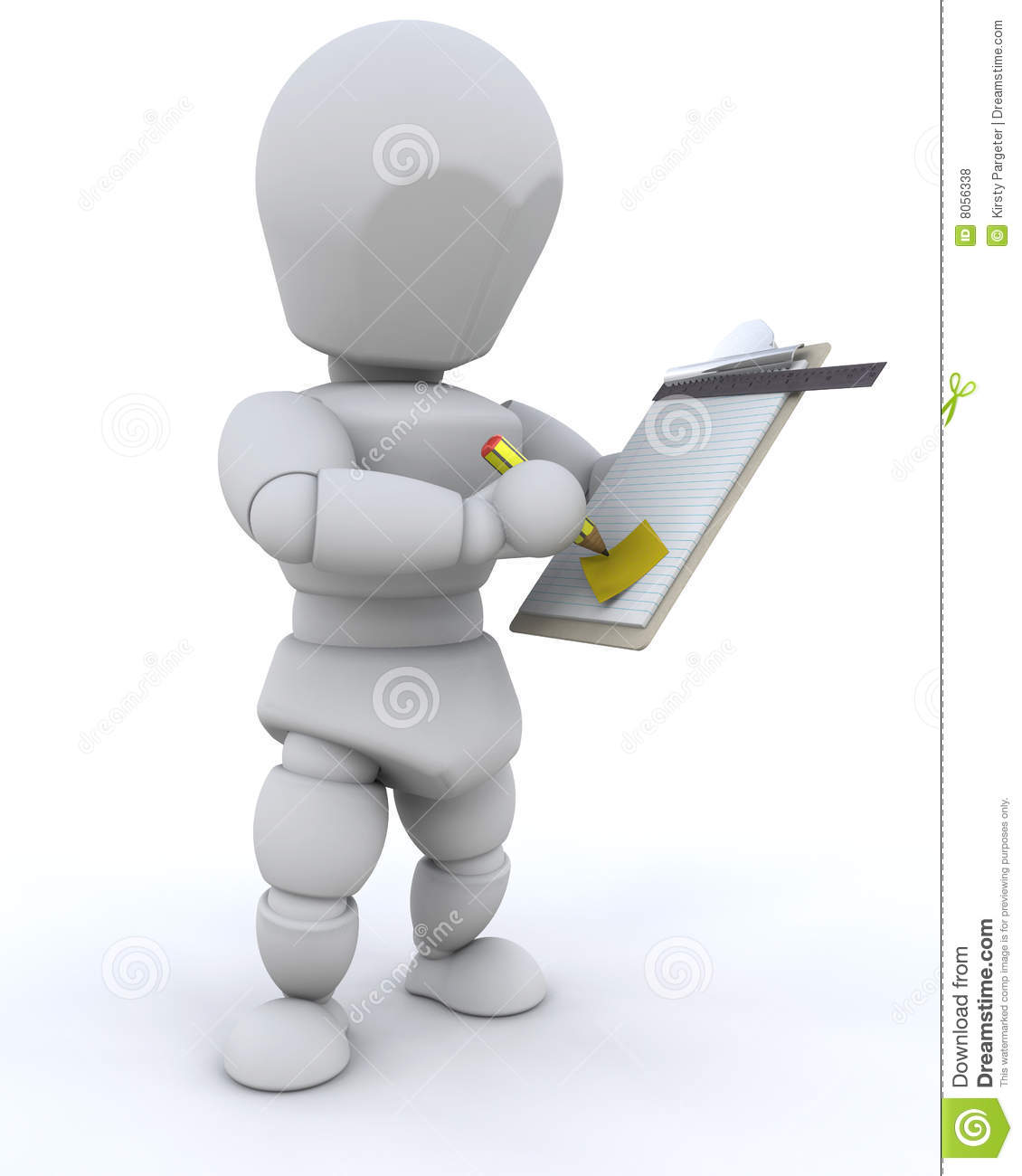 Checking Clipboard Royalty Free Stock Photos - Image: 8056338
