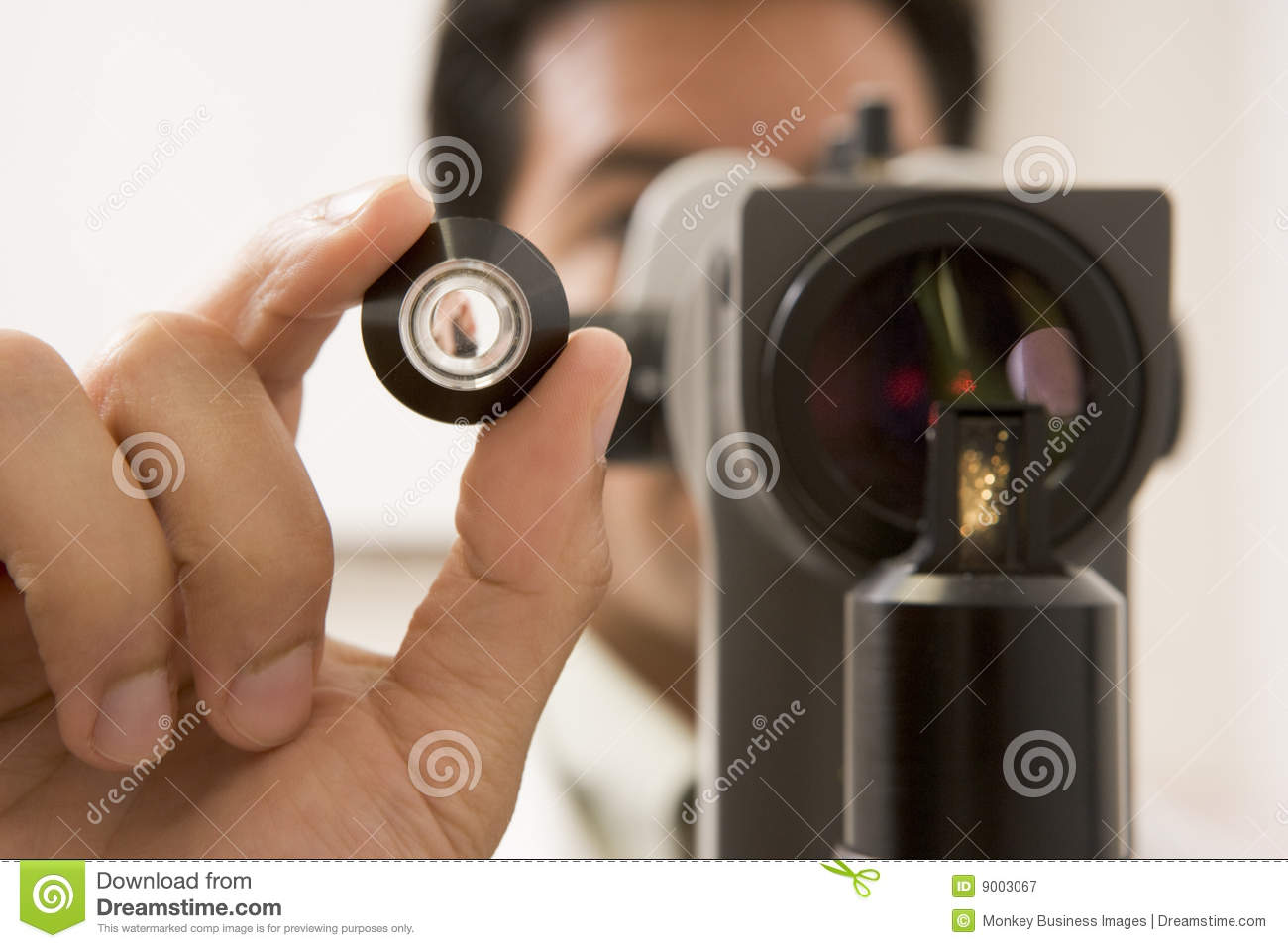 Checking doctor eyes glaucoma patient s