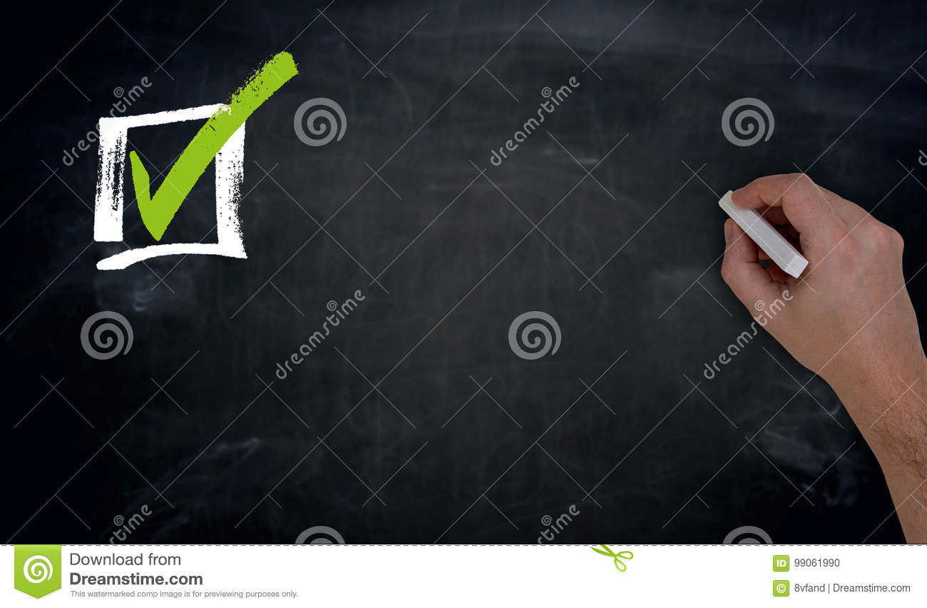 Checklist with Copy Space Hand writing on blackboard