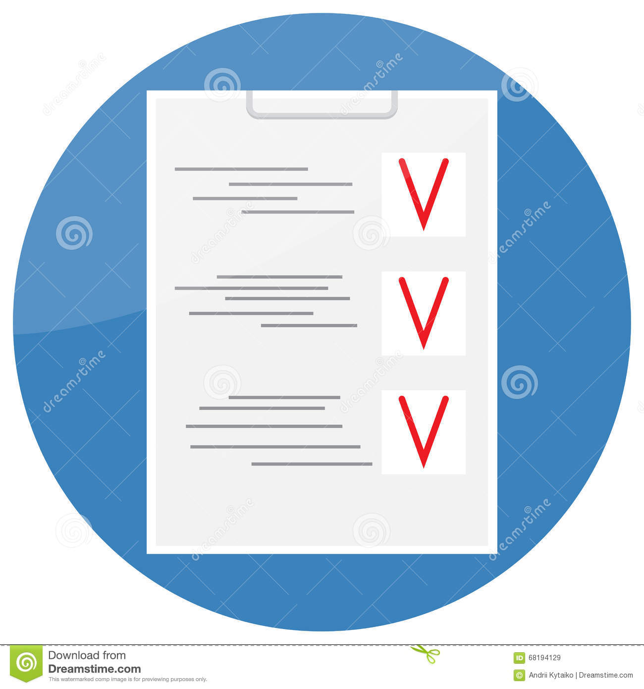 Checklist Icon Design Flat Royalty Free Stock Images