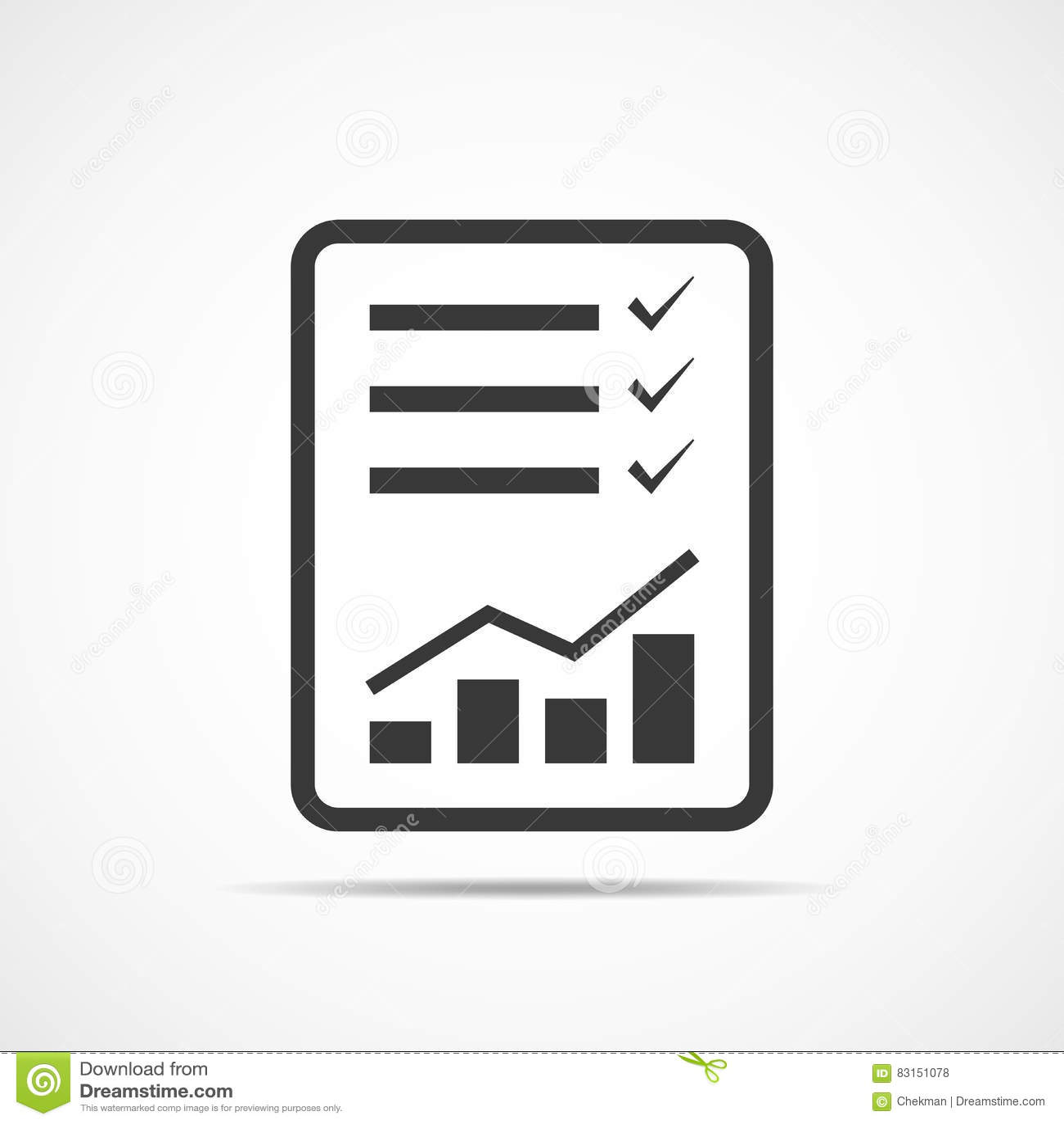 Checklist Icon. Vector Illustration. Stock Illustration ...
