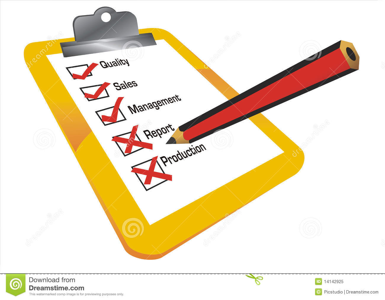 Checklist Illustration Stock Illustration. Illustration Of