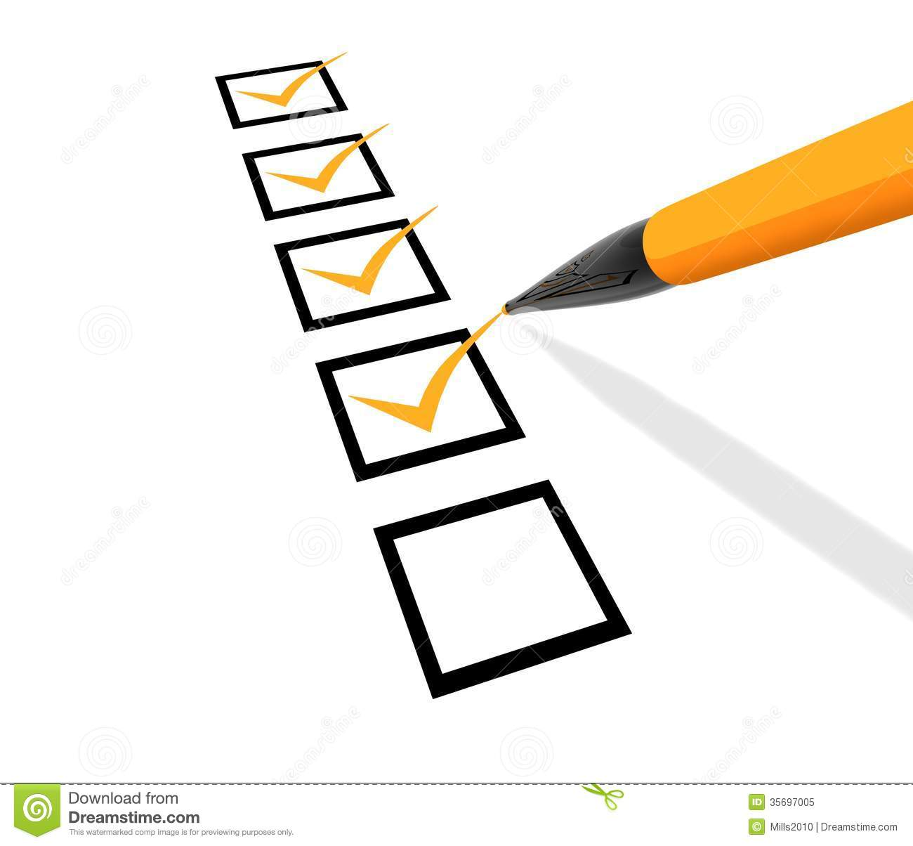 Checklist Royalty Free Stock Photo - Image: 35697005