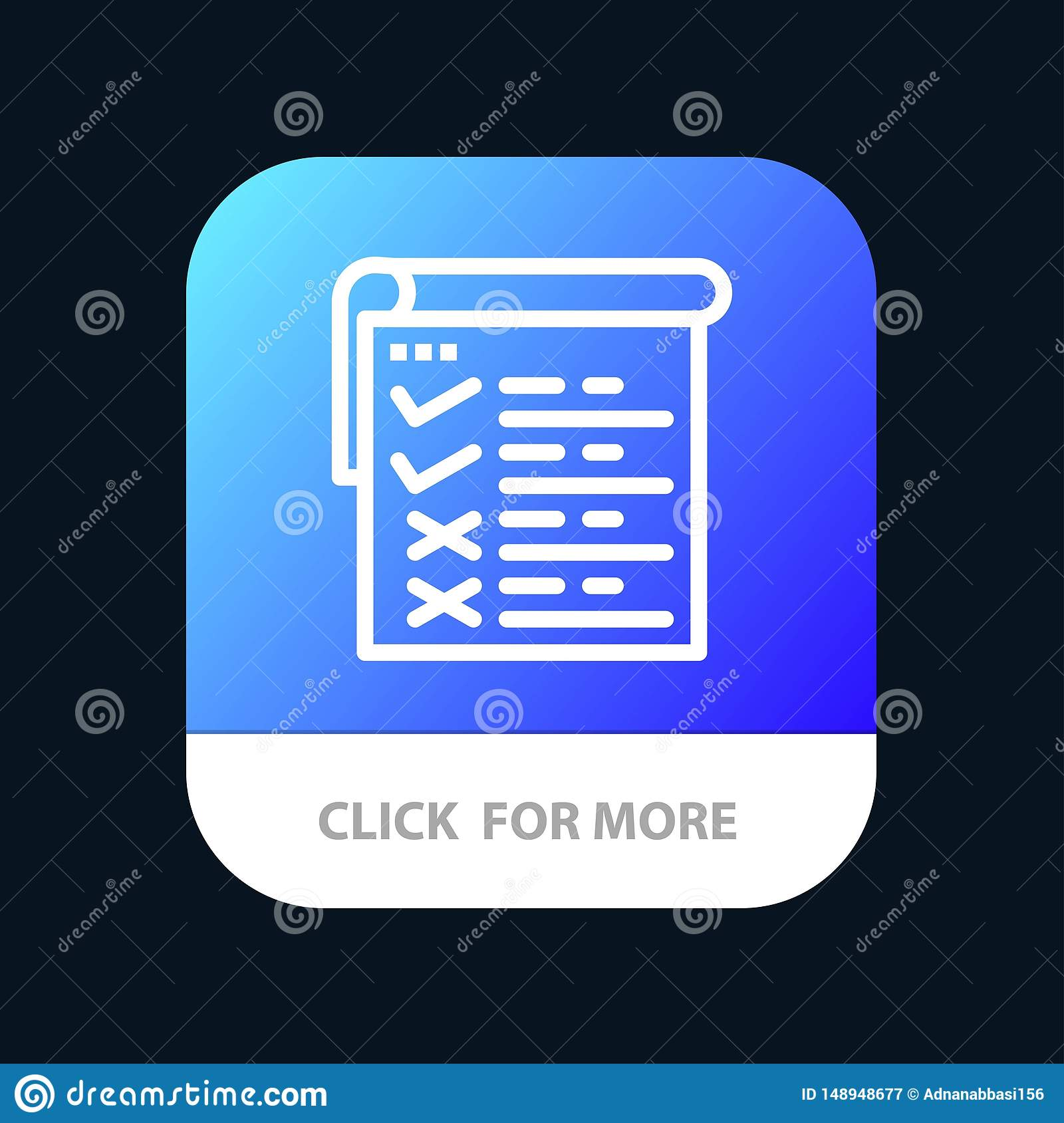Checklist, Testing, Report, Qa Mobile App Button  Android