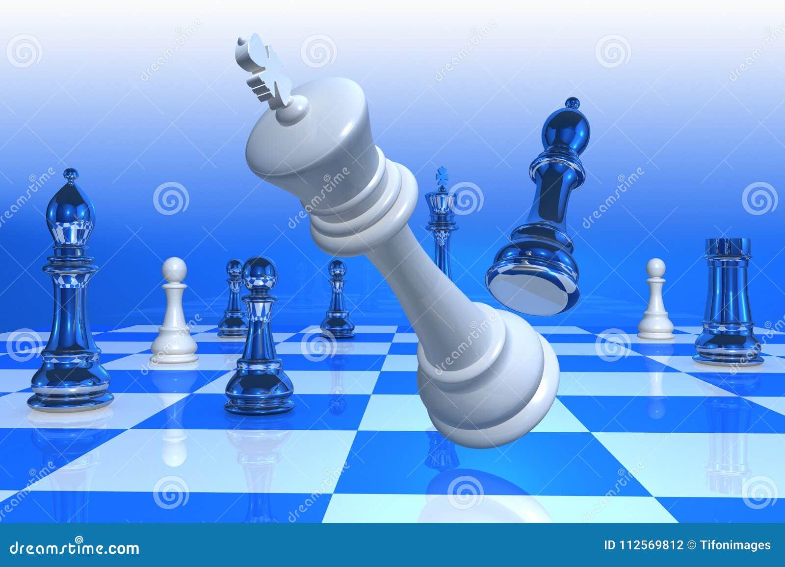 Checkmate com a queda do rei