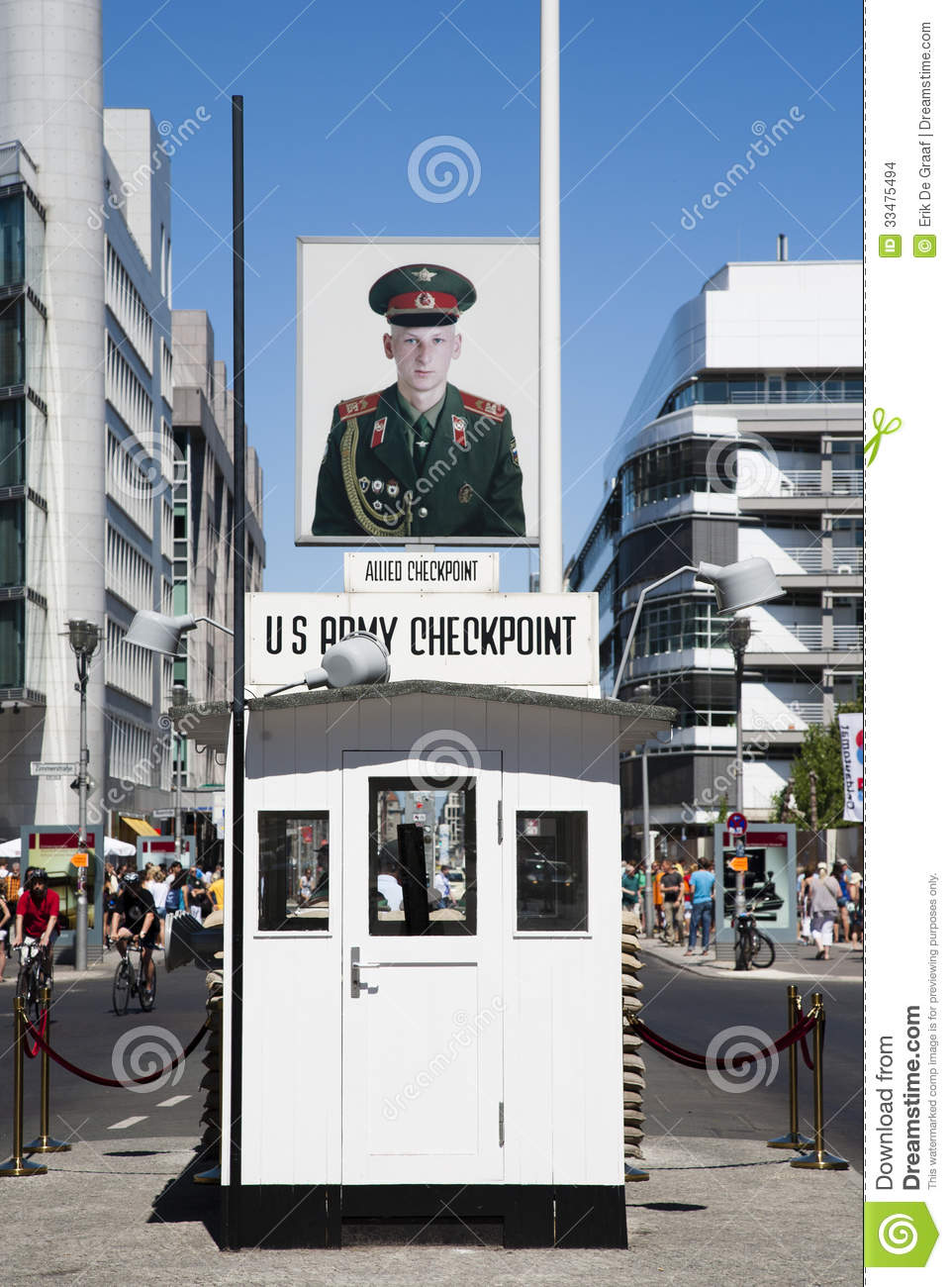 checkpoint charlie editorial stock image image 33475494. Black Bedroom Furniture Sets. Home Design Ideas